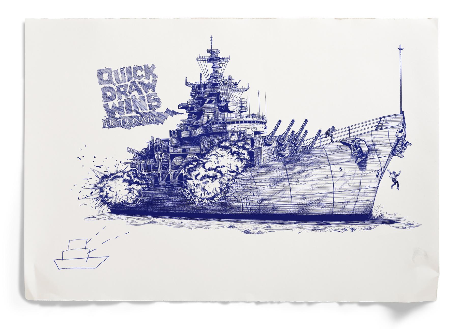 Pictionary Print Ad -  Battleship
