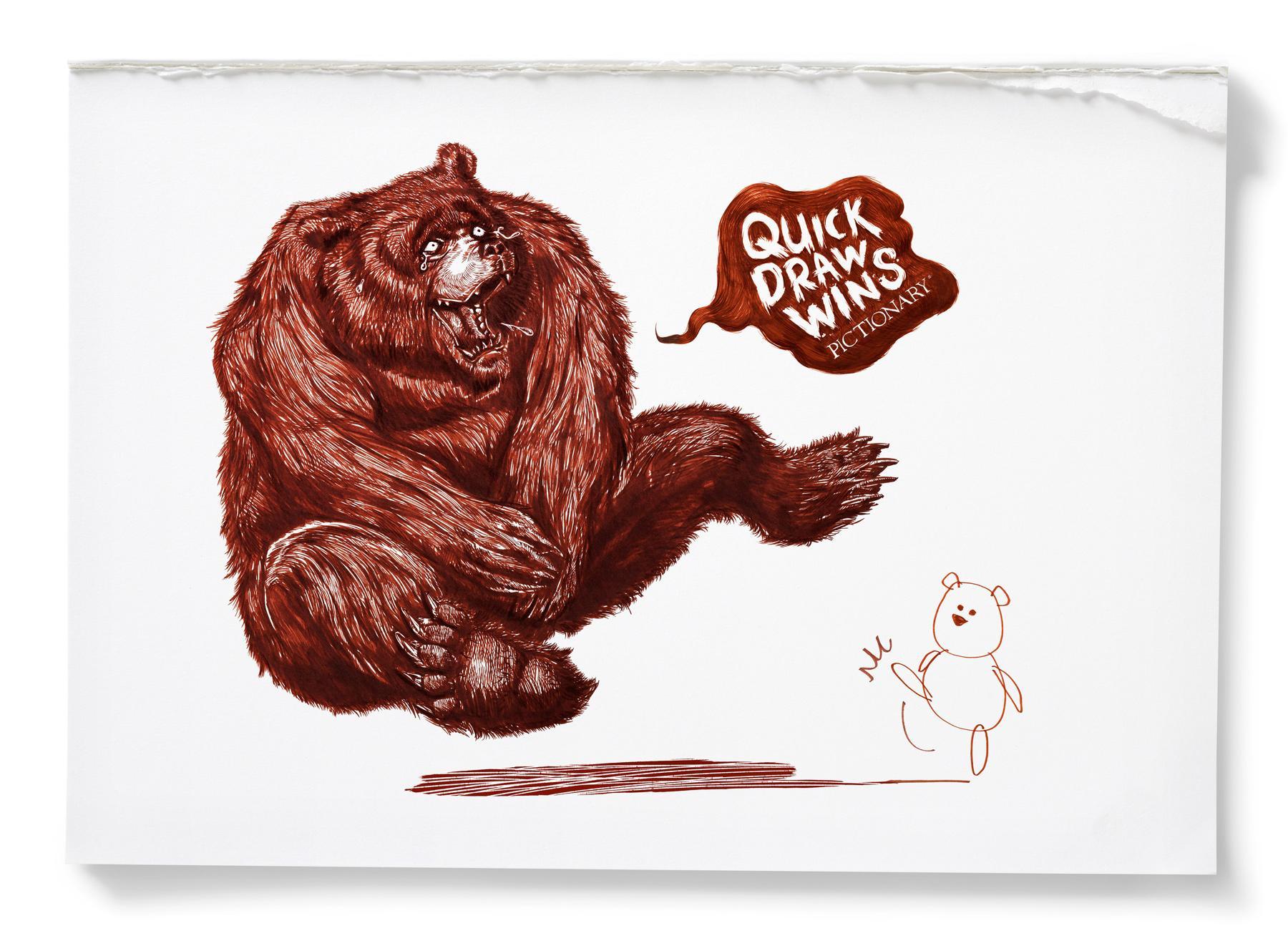 Pictionary Print Ad -  Bear