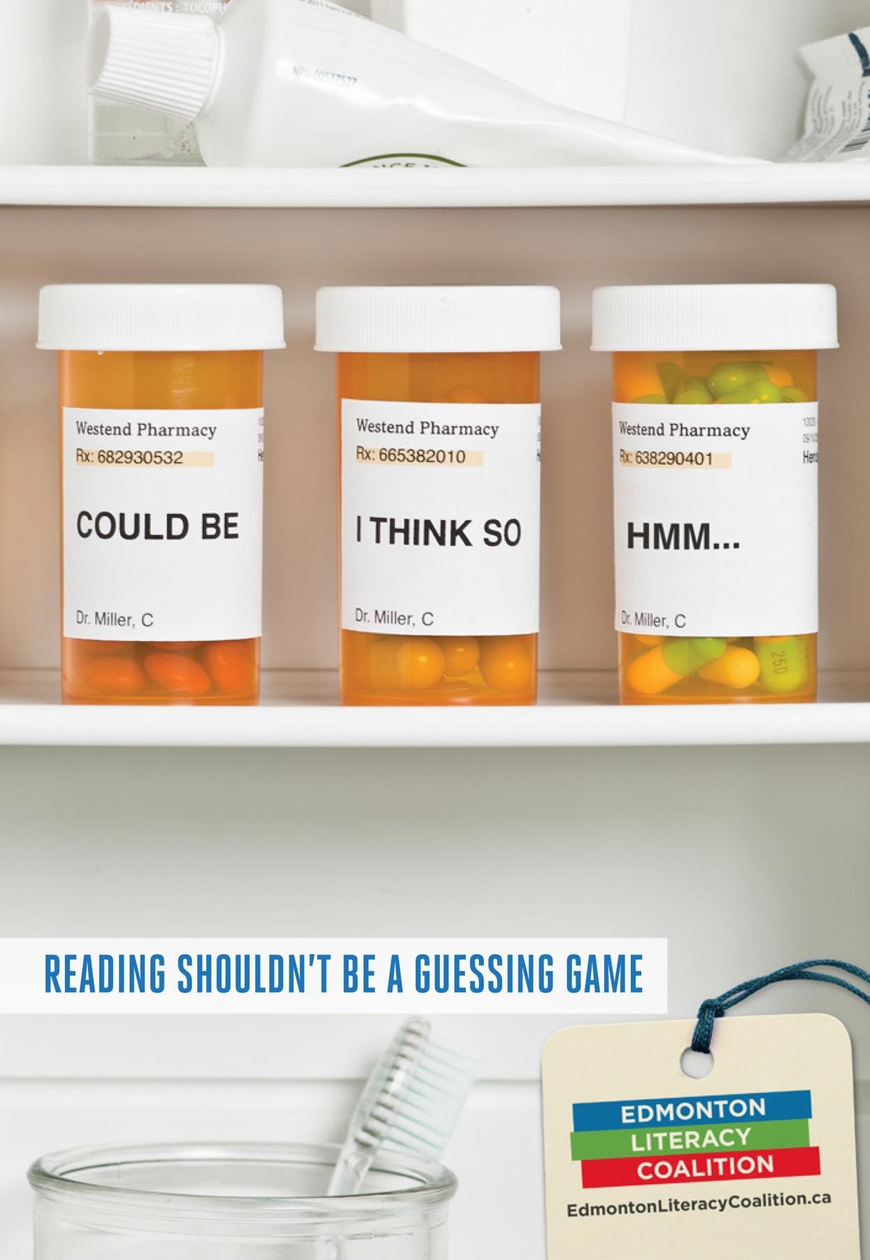 Edmonton Literacy Coalition Print Ad -  Pills