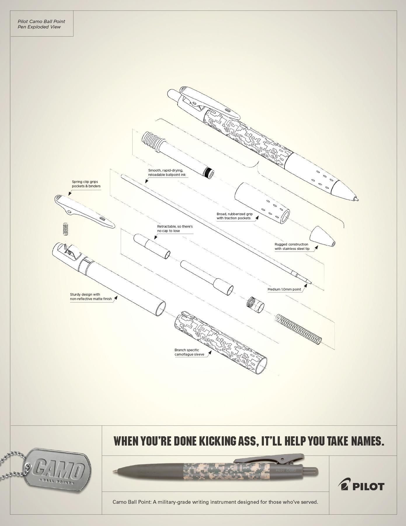 Pilot Print Ad -  Pilot Camo Ball Point Pen