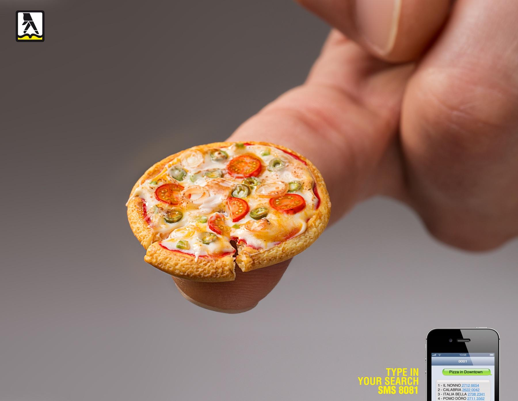Yellow Pages Print Ad -  Mini pizza