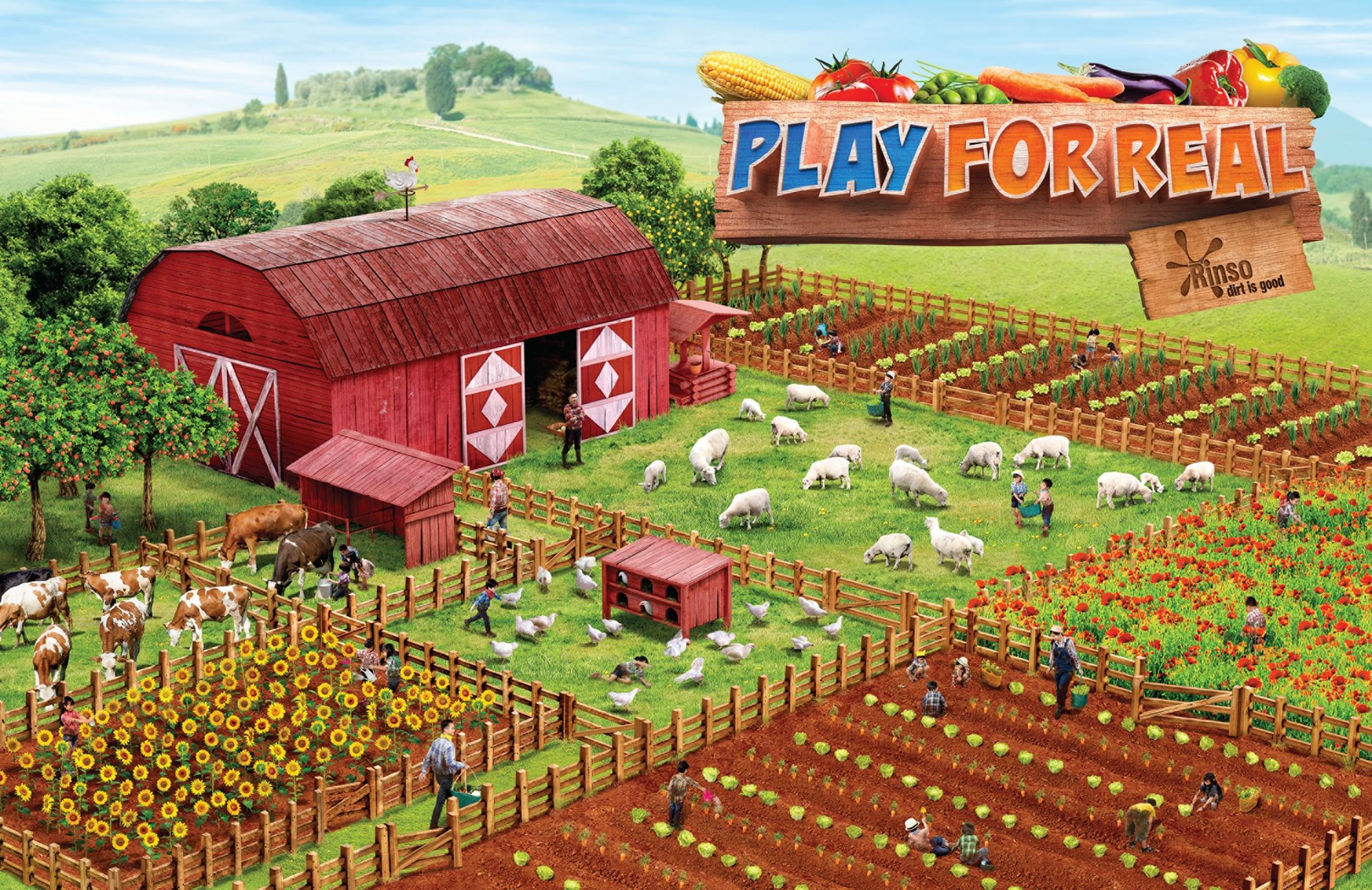 Rinso Print Ad -  Farm