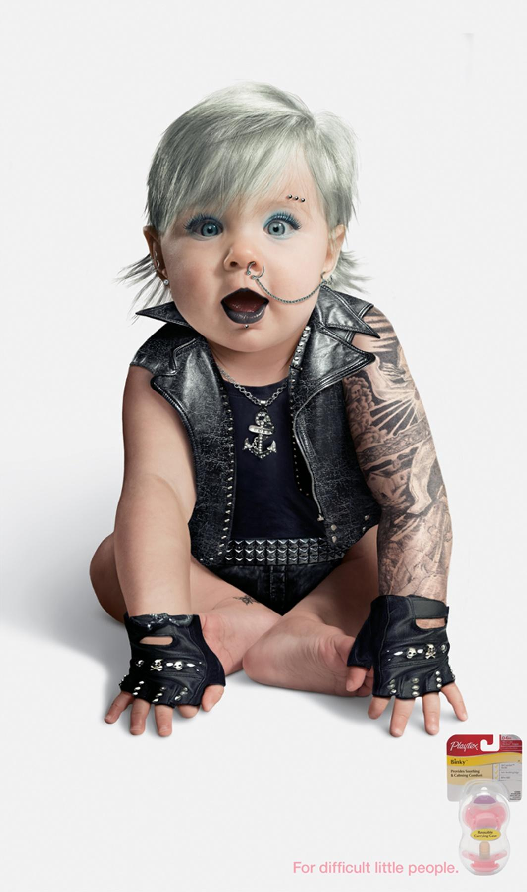 Playtex Print Ad -  Punk Girl