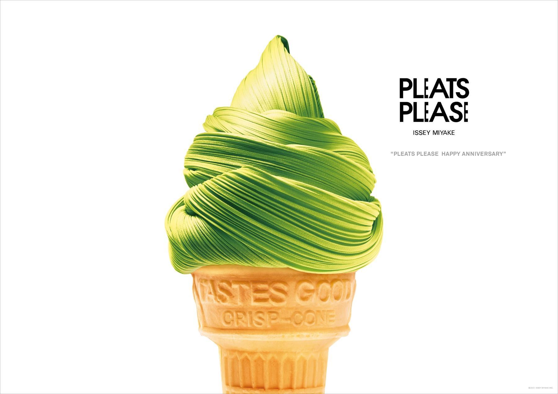 Issey Miyake Print Ad -  Anniversary, Ice Cream Cone
