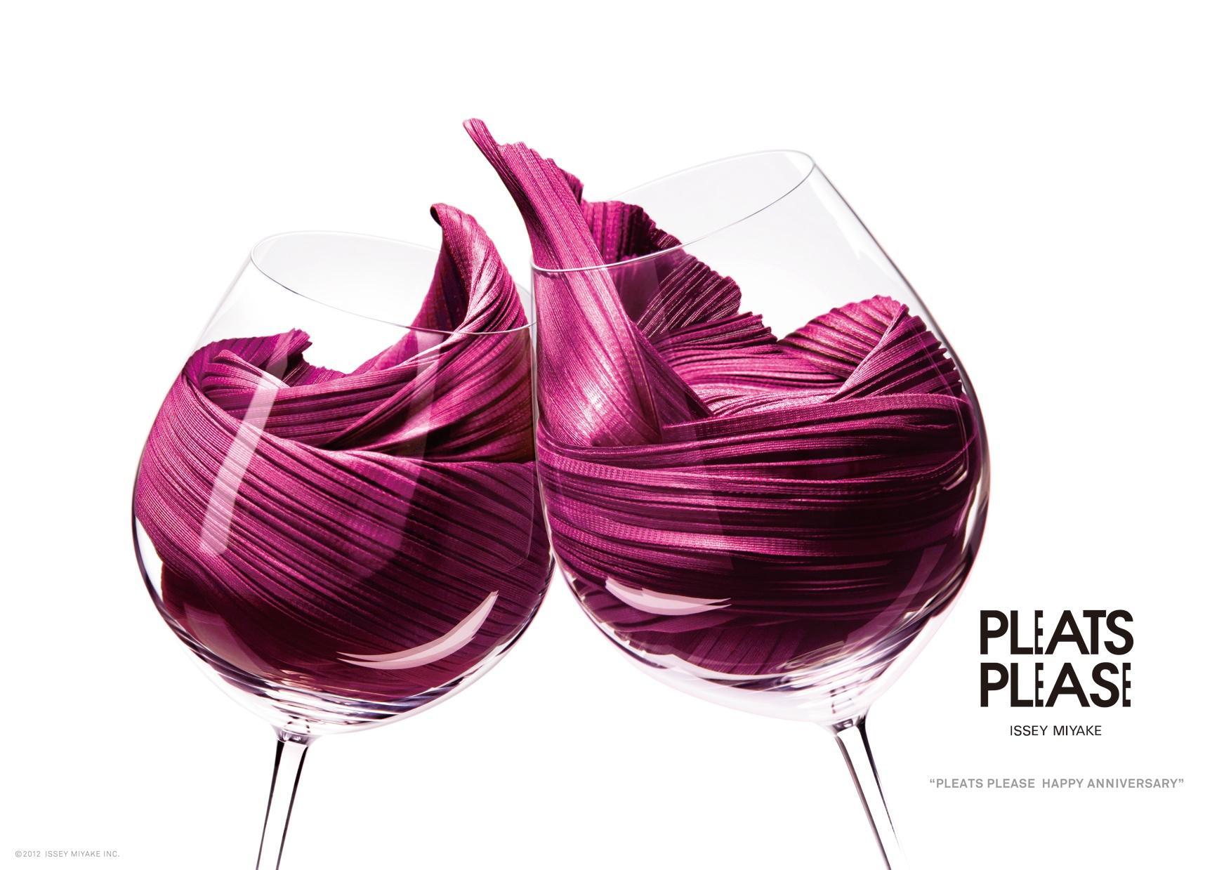 Issey Miyake Print Ad -  Anniversary, Red Wine