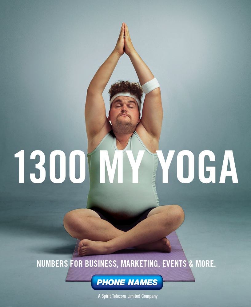 Phone Names Outdoor Ad - 1300 My Yoga
