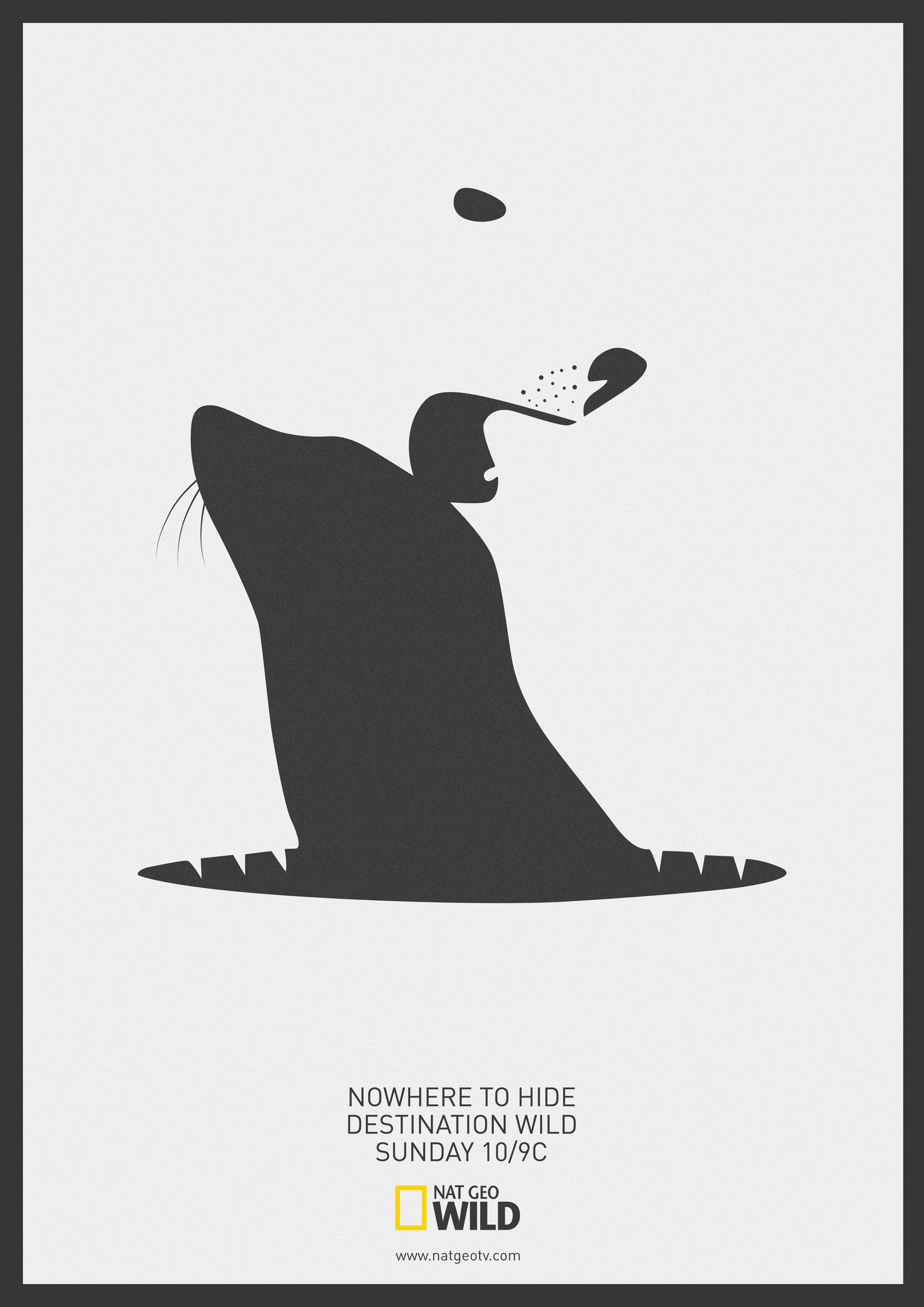 National Geographic Print Ad - Polar Bear VS Seal - Destination Wild
