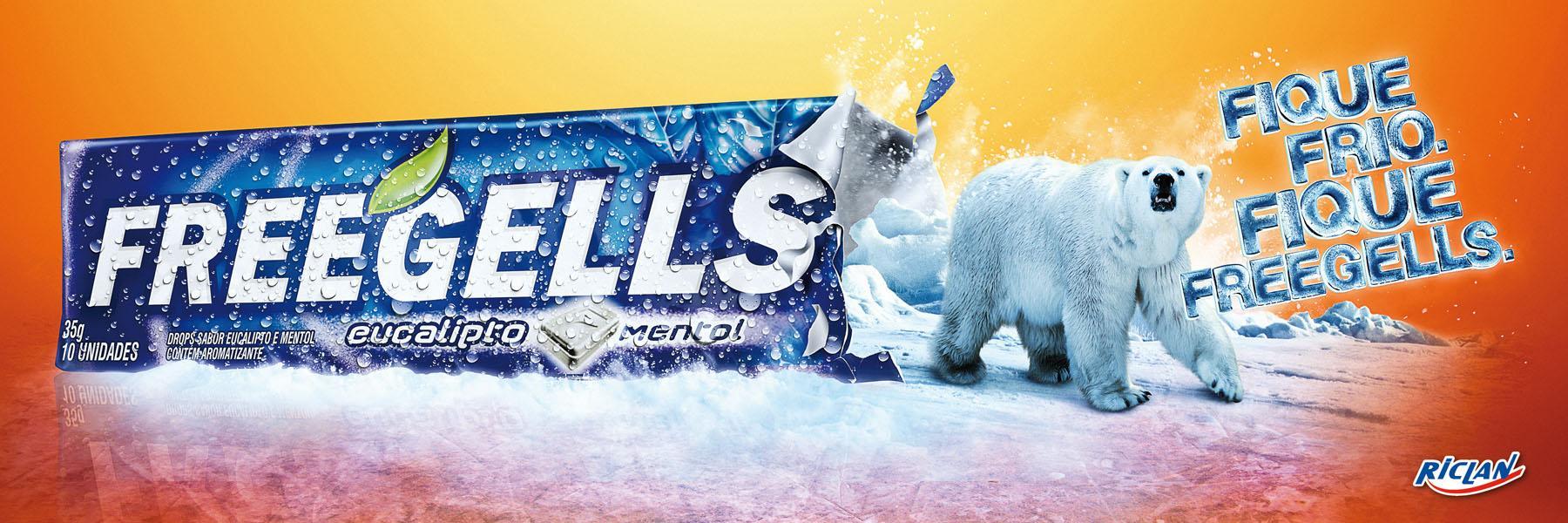 Freegells Print Ad -  Polar Bear