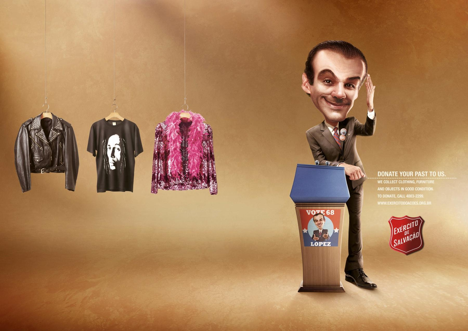 Salvation Army Print Ad -  Politician