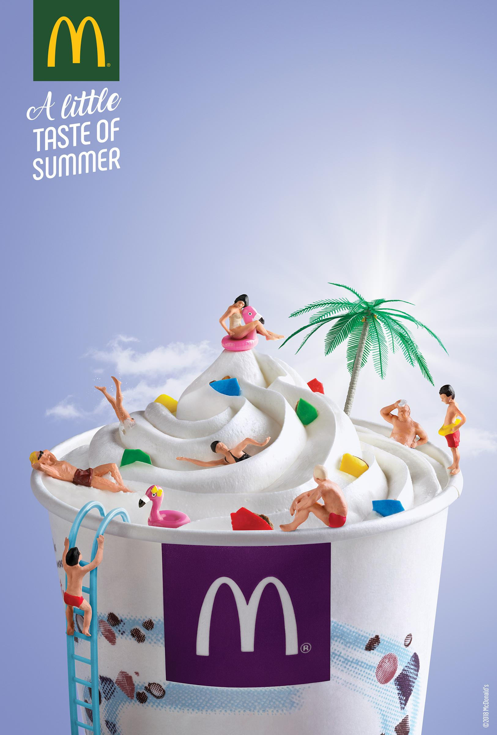 McDonald's Print Ad - Pool