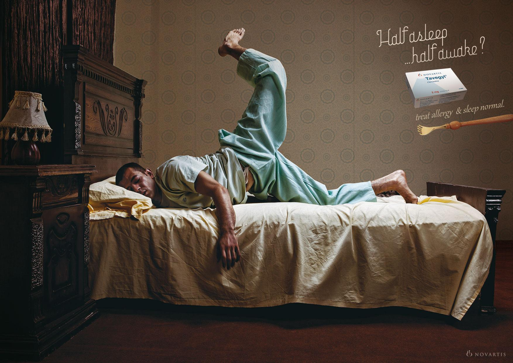 Tavegyl Print Ad -  Sleeping with Allergy, 1