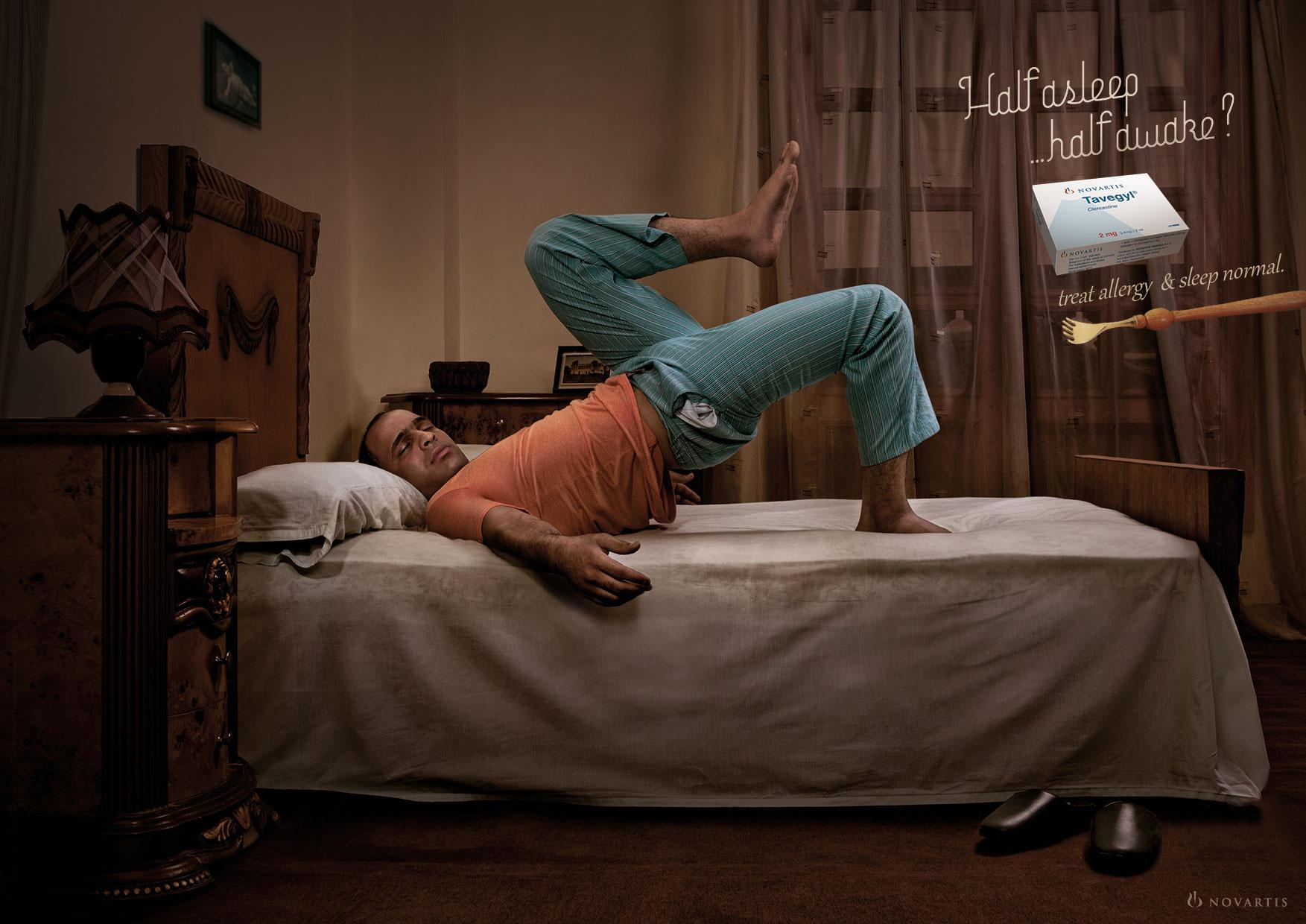 Tavegyl Print Ad -  Sleeping with Allergy, 2