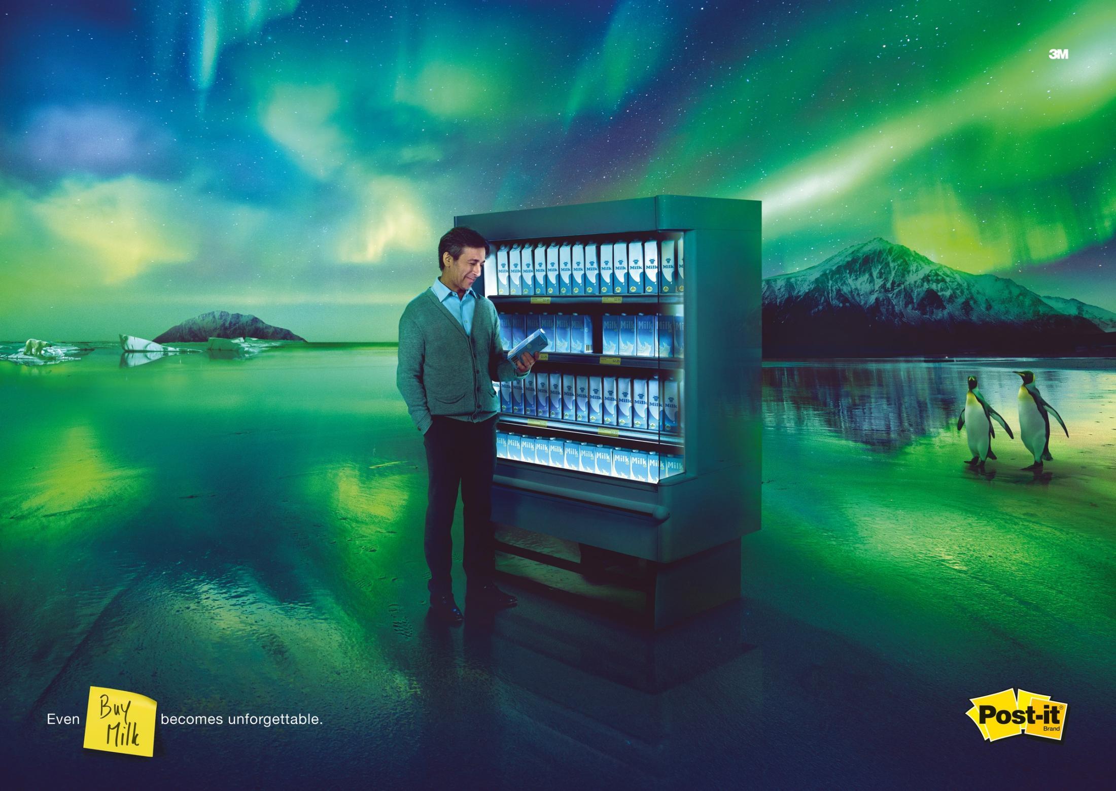 Post-it Brand Print Ad - Unforgettable - Milk