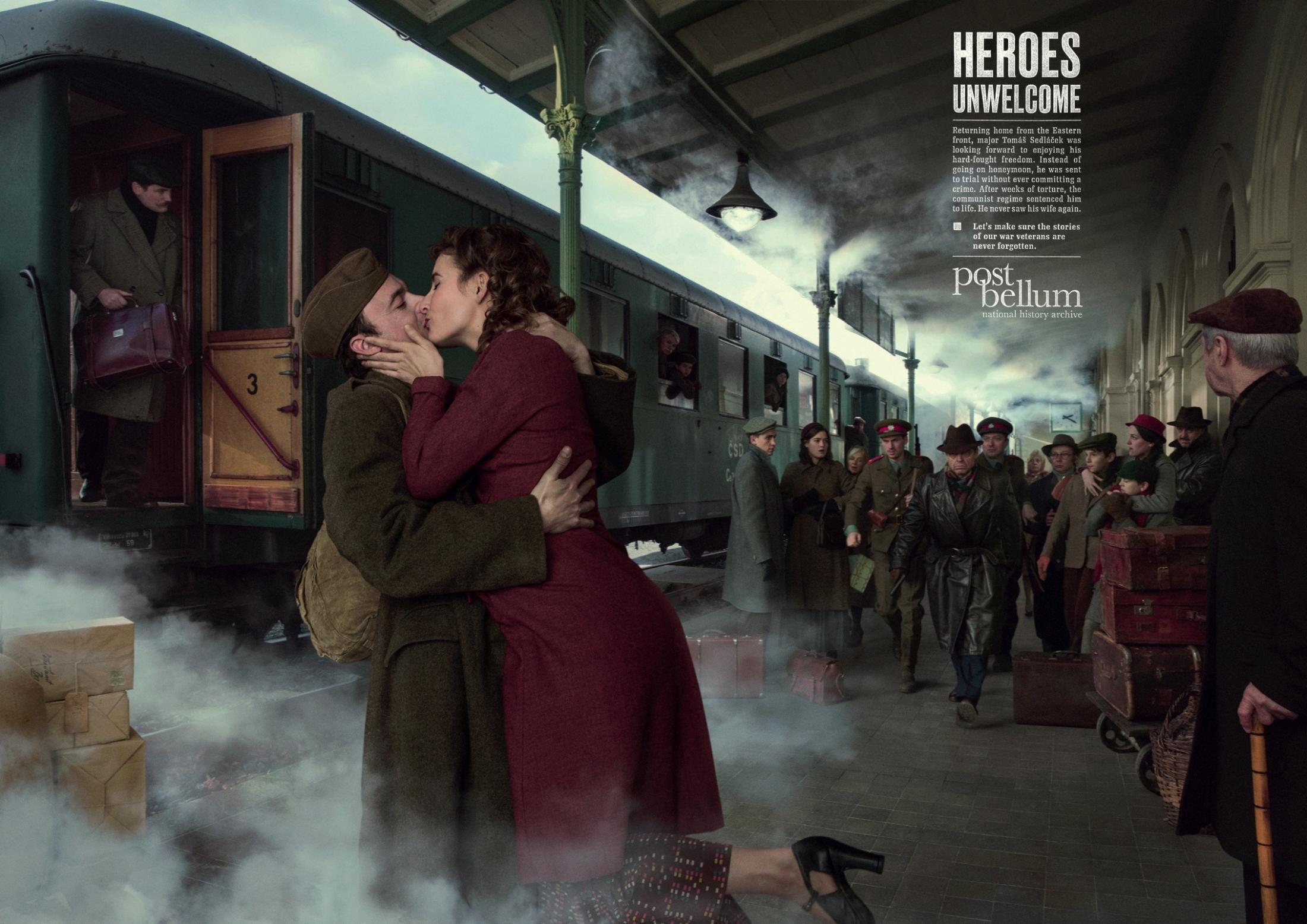 Post Bellum Print Ad - Heroes Unwelcome - Train Station