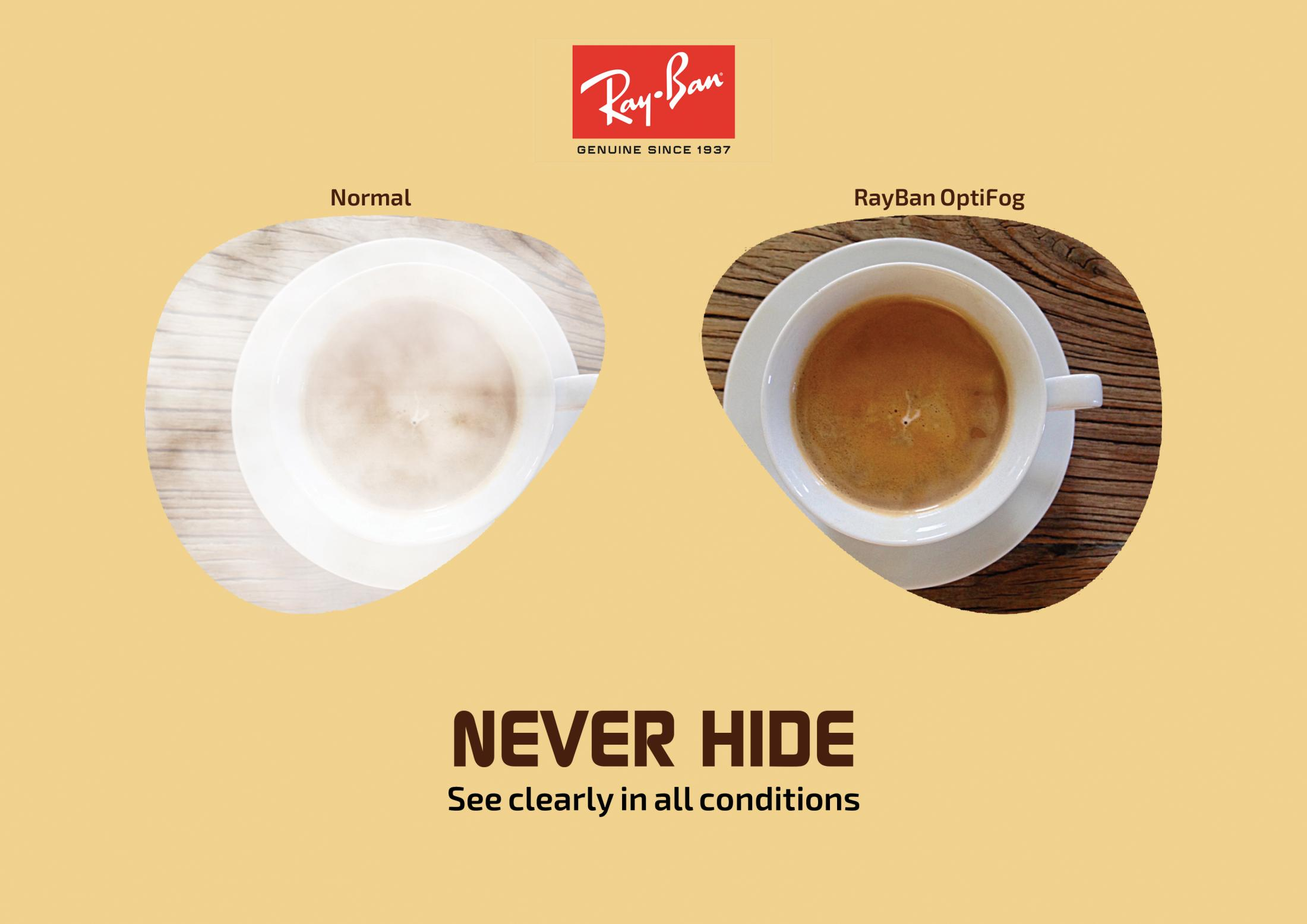 Ray-Ban Print Ad - Never Hide, 1