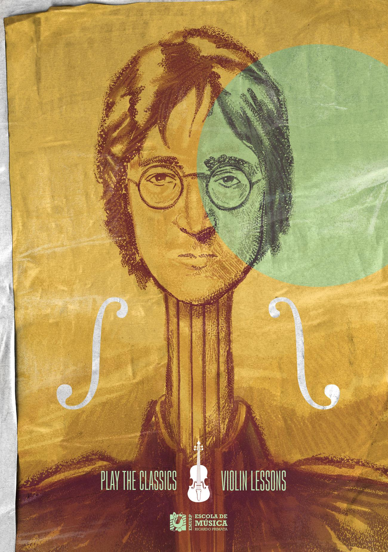 EMURP Music School Print Ad - Violin Lessons  - Lennon