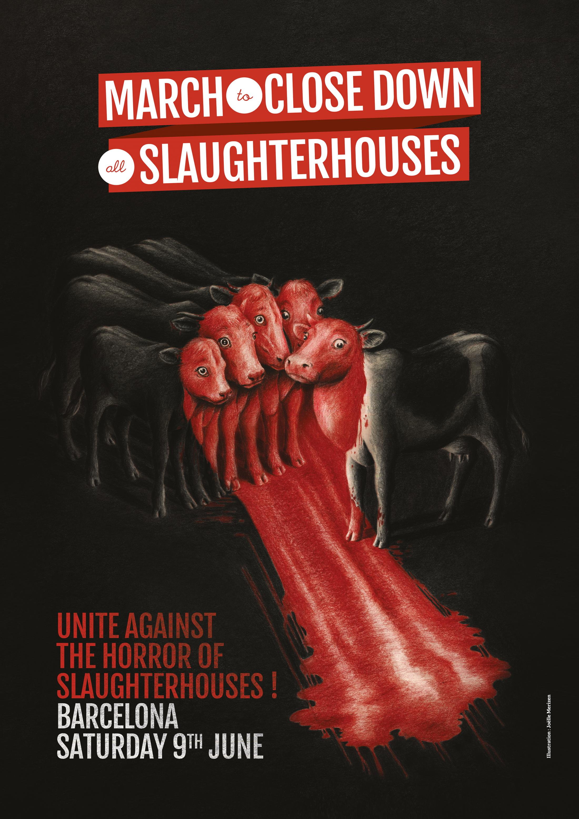 March to Close Down all Slaughterhouses Outdoor Ad - The Fist
