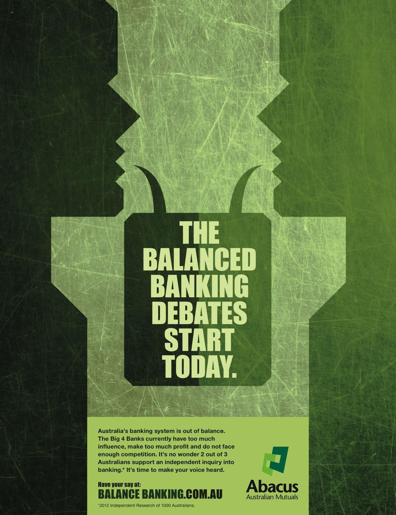 Abacus Australian Mutuals Print Ad -  Balance Banking, 4