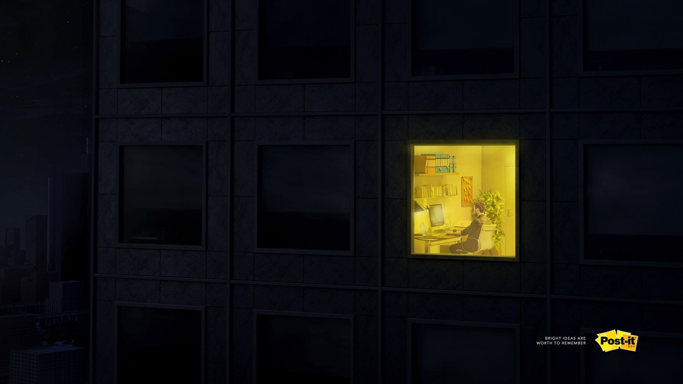 Post-it Brand Print Ad - Bright Ideas, 2