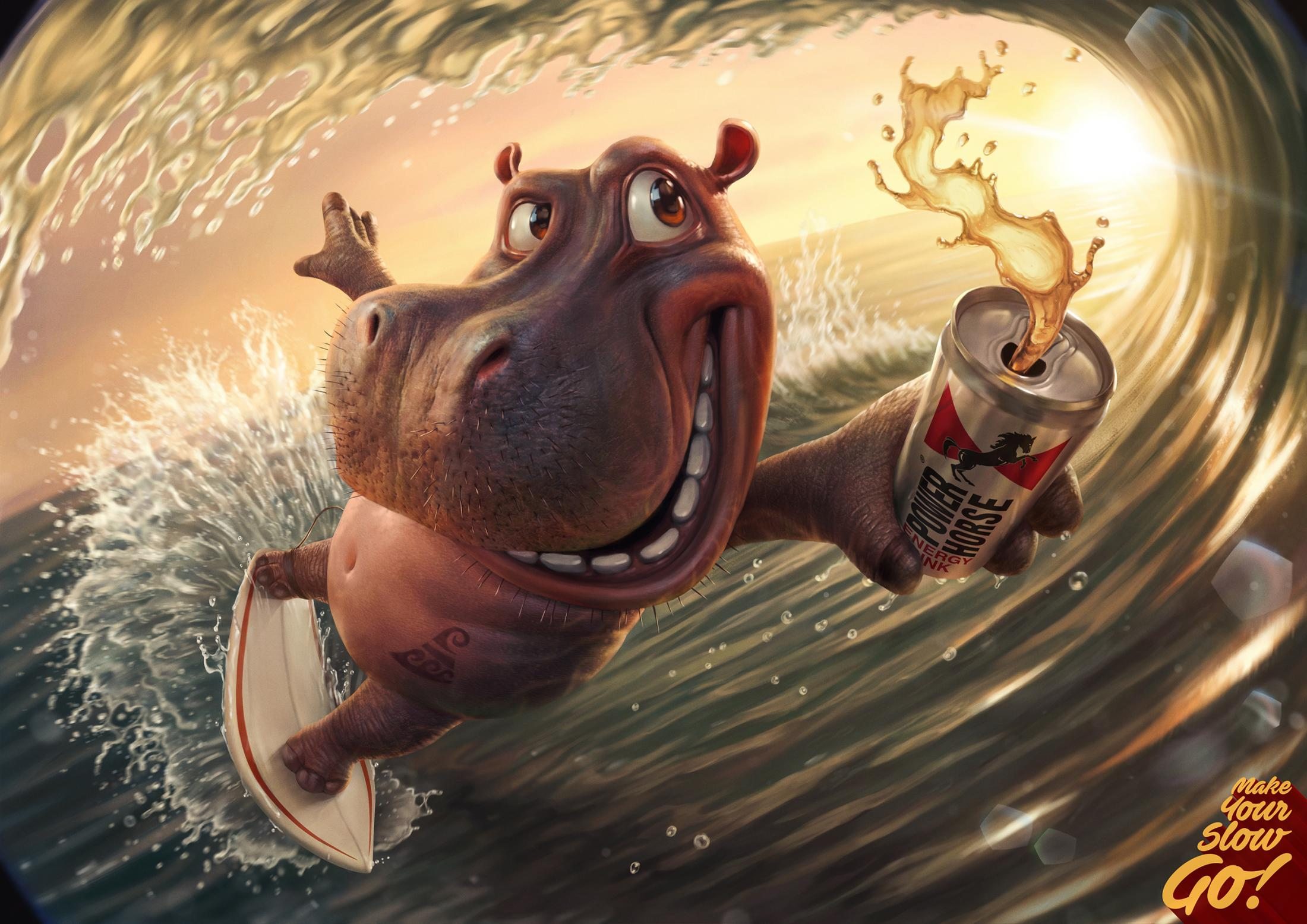 Power Horse Print Ad - Hippo