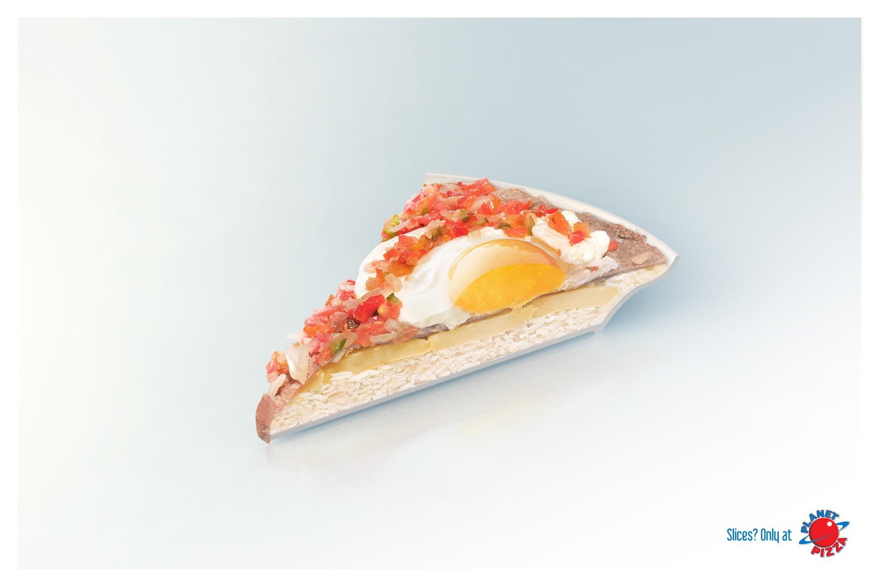 Planet Pizza Print Ad -  Slice, 1