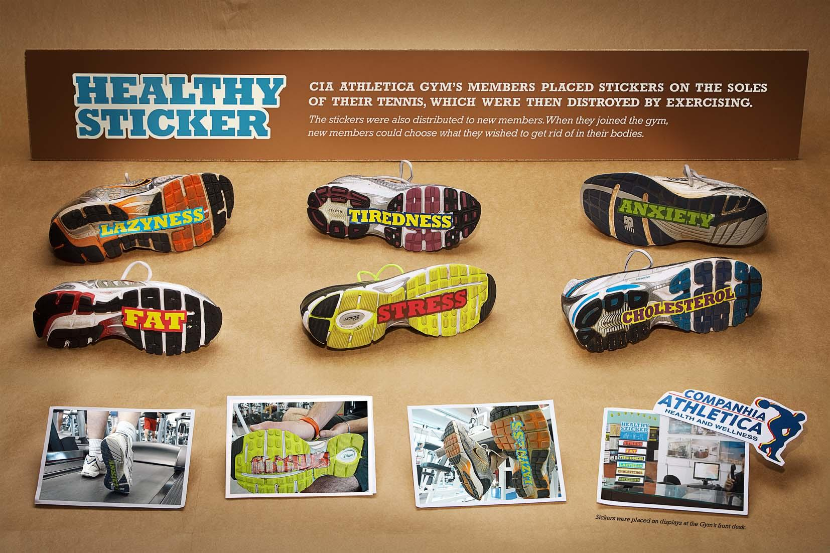 Companhia Athletica Direct Ad -  Healthy Stickers