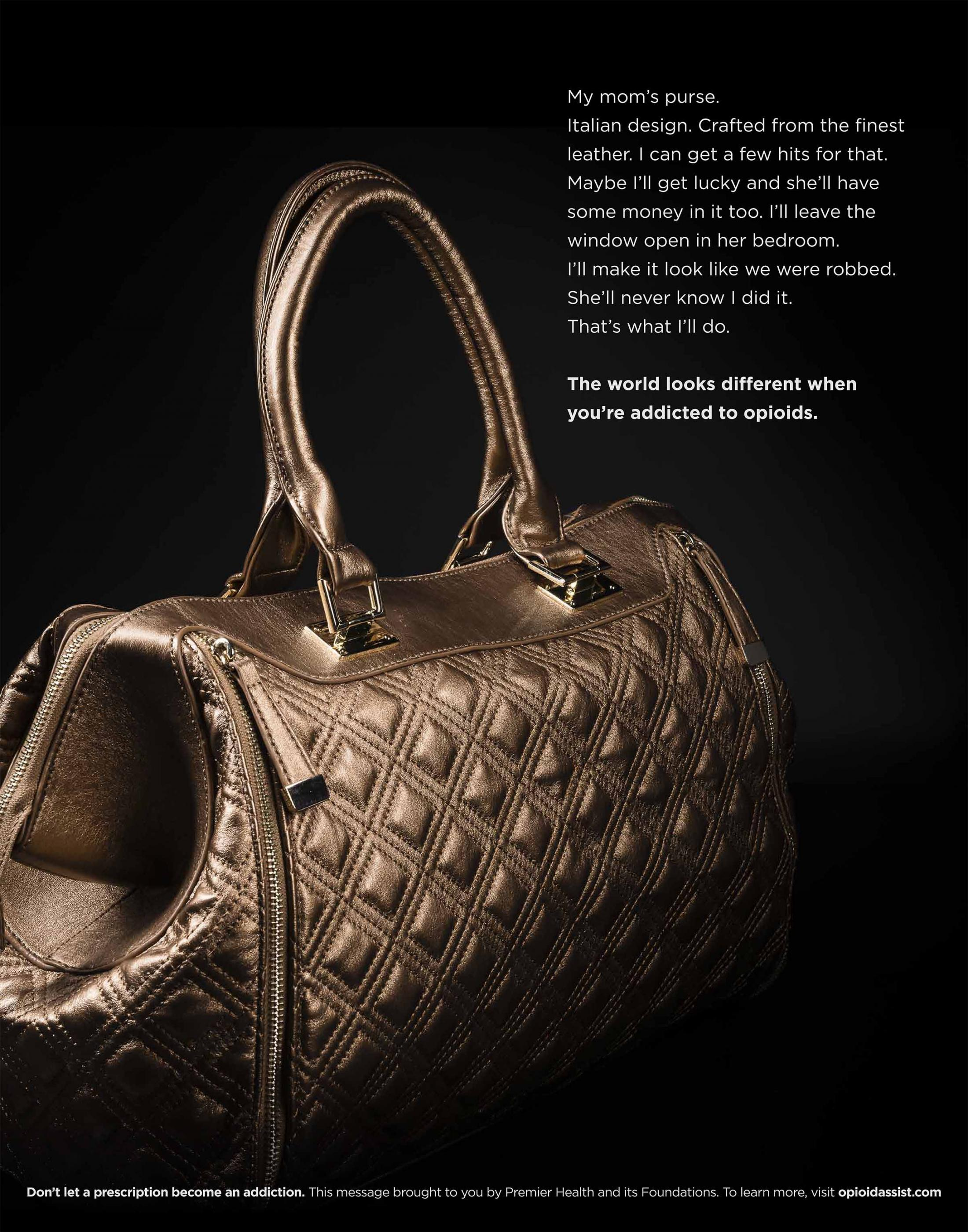 Premier Health Print Ad - Opioid Fashion, 3