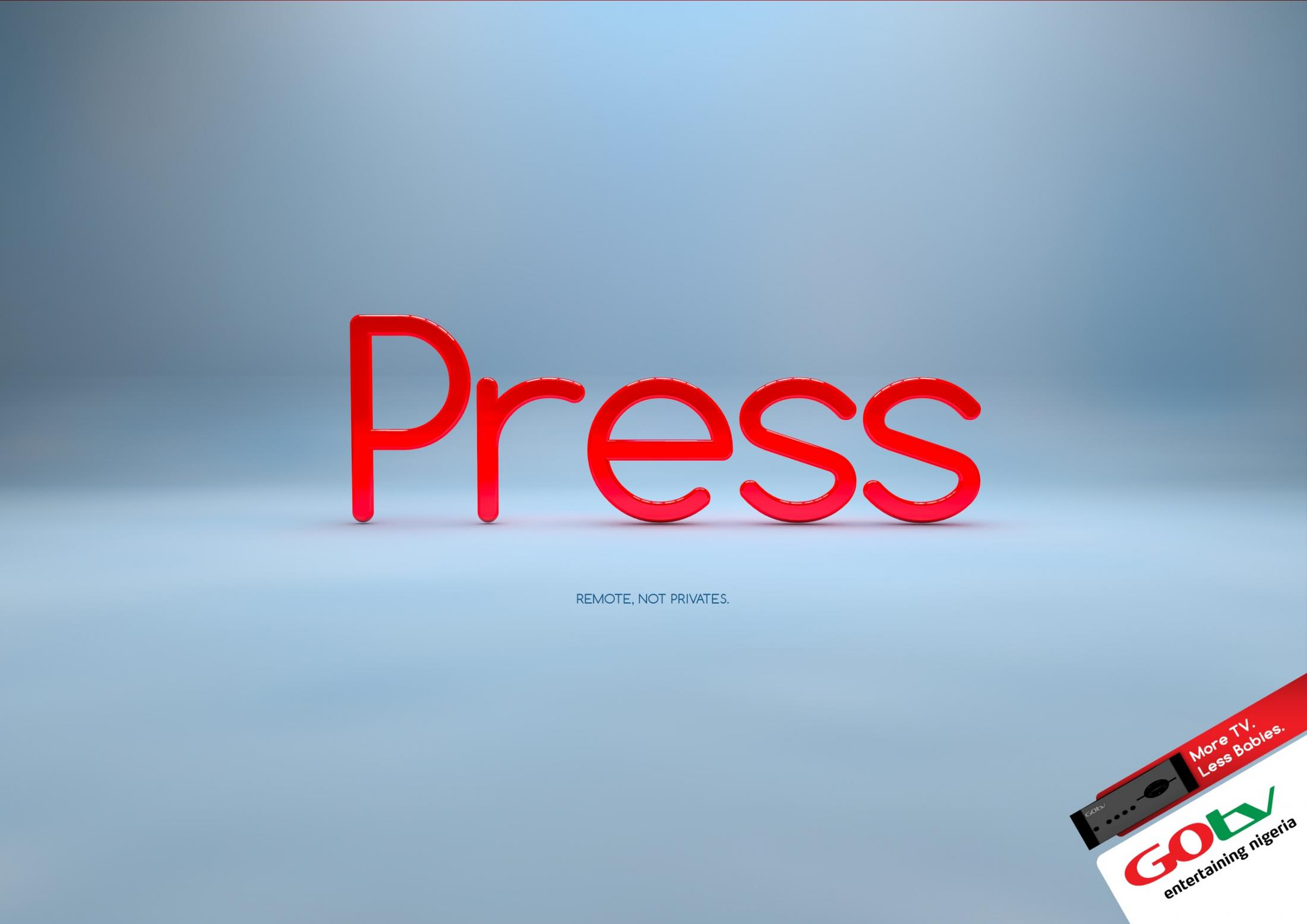 GOtv Print Ad -  Press
