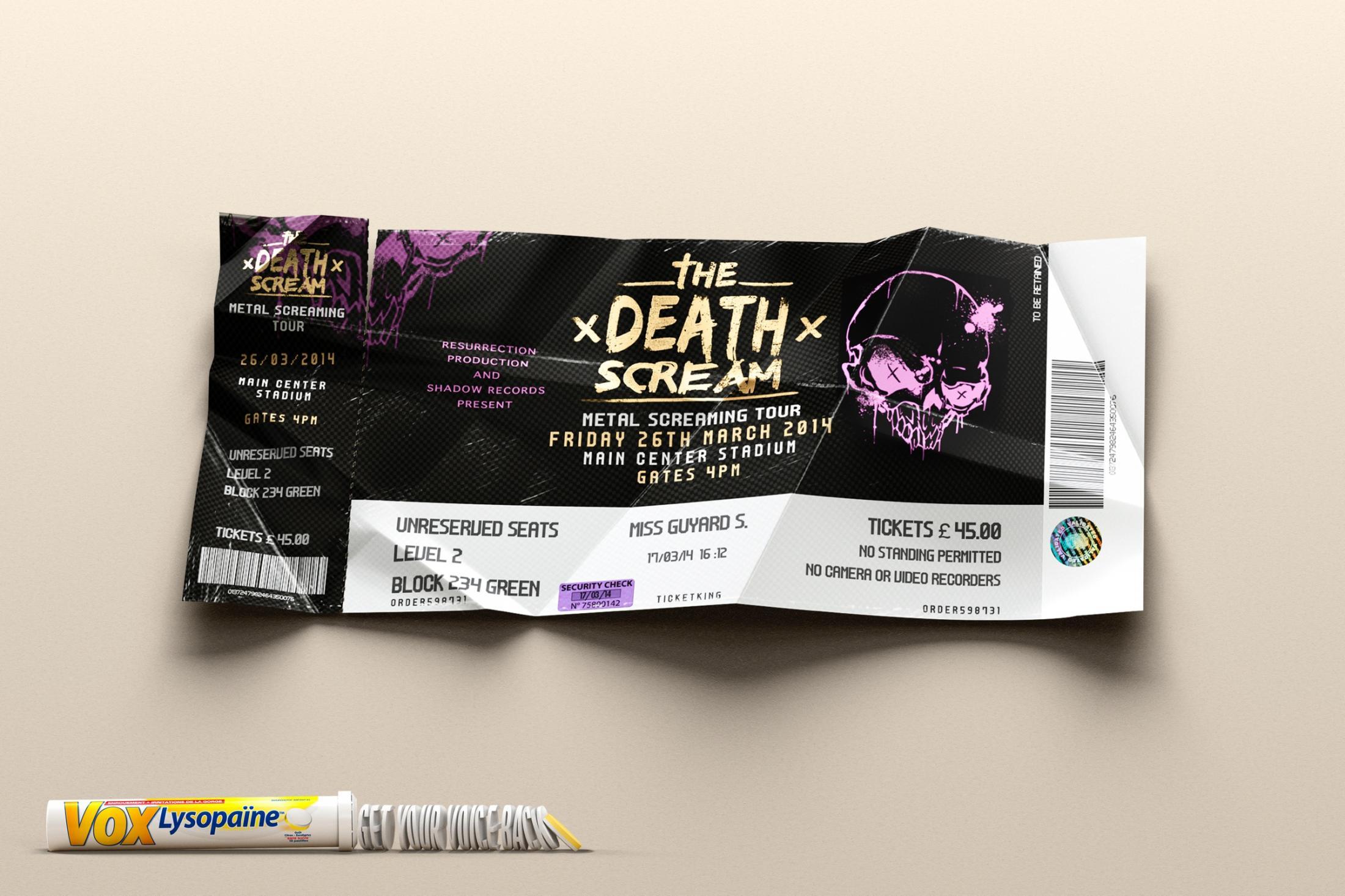 Lysopaine Print Ad -  Concert