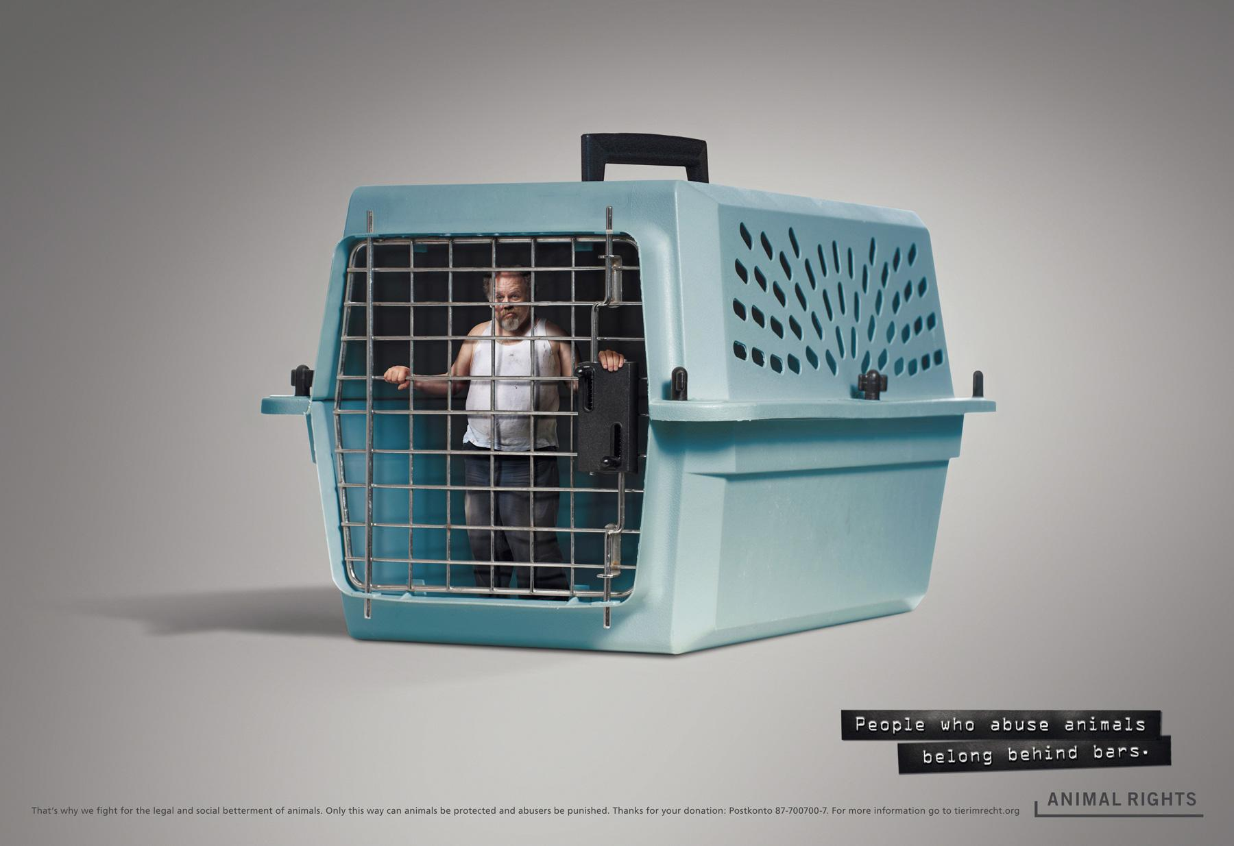 Animal Rights Print Ad -  Cage, 1