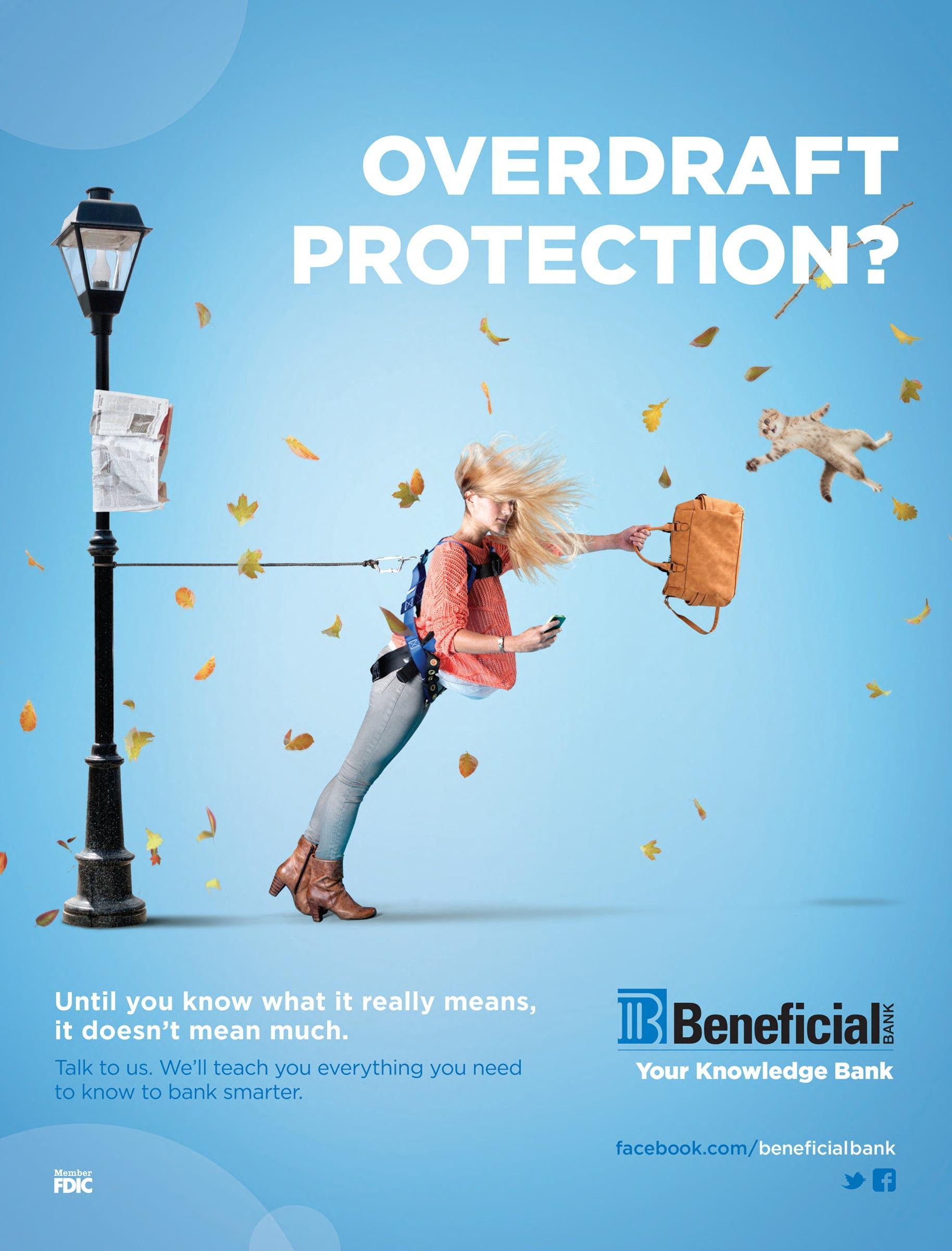 Beneficial Bank Print Advert By Brownstein: Overdraft ...