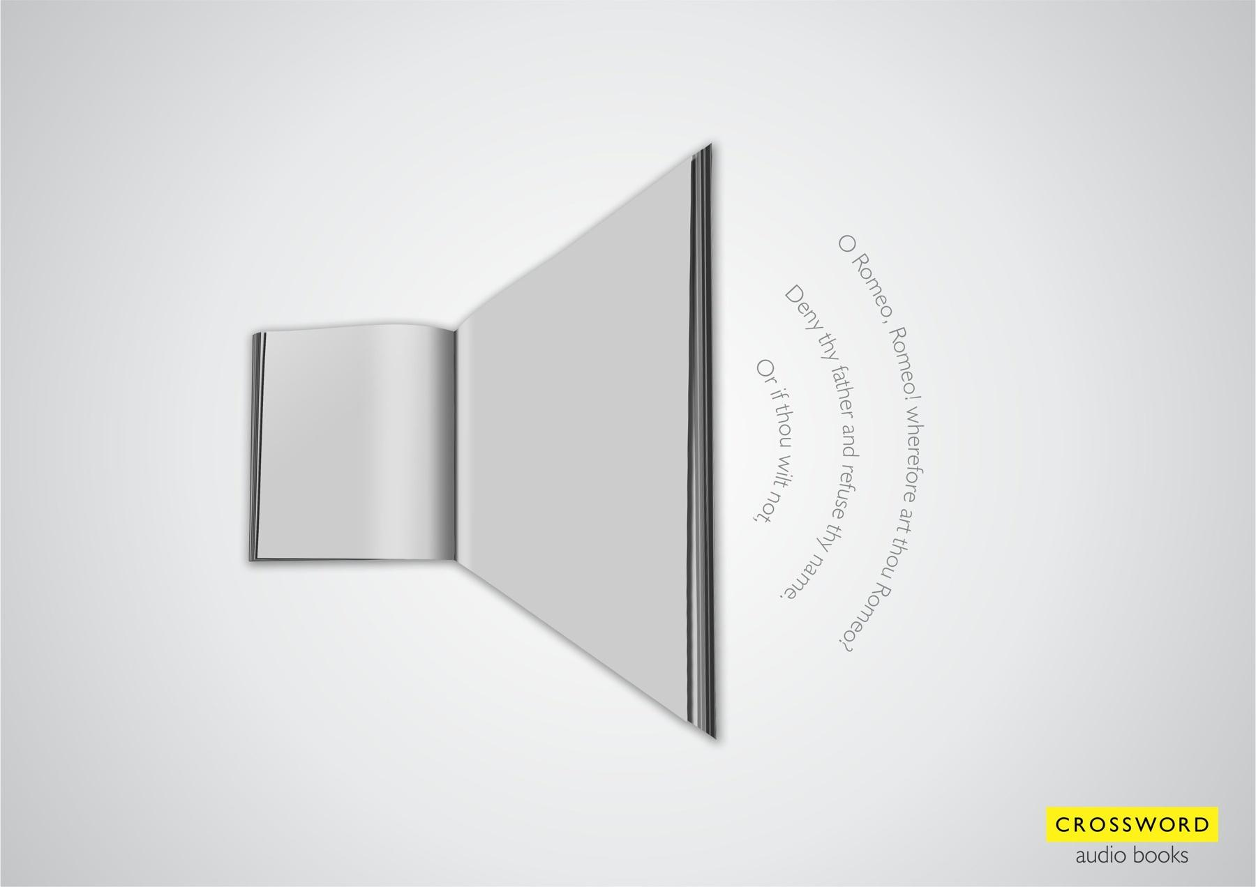 Crossword Bookstores Print Ad -  Audio icon