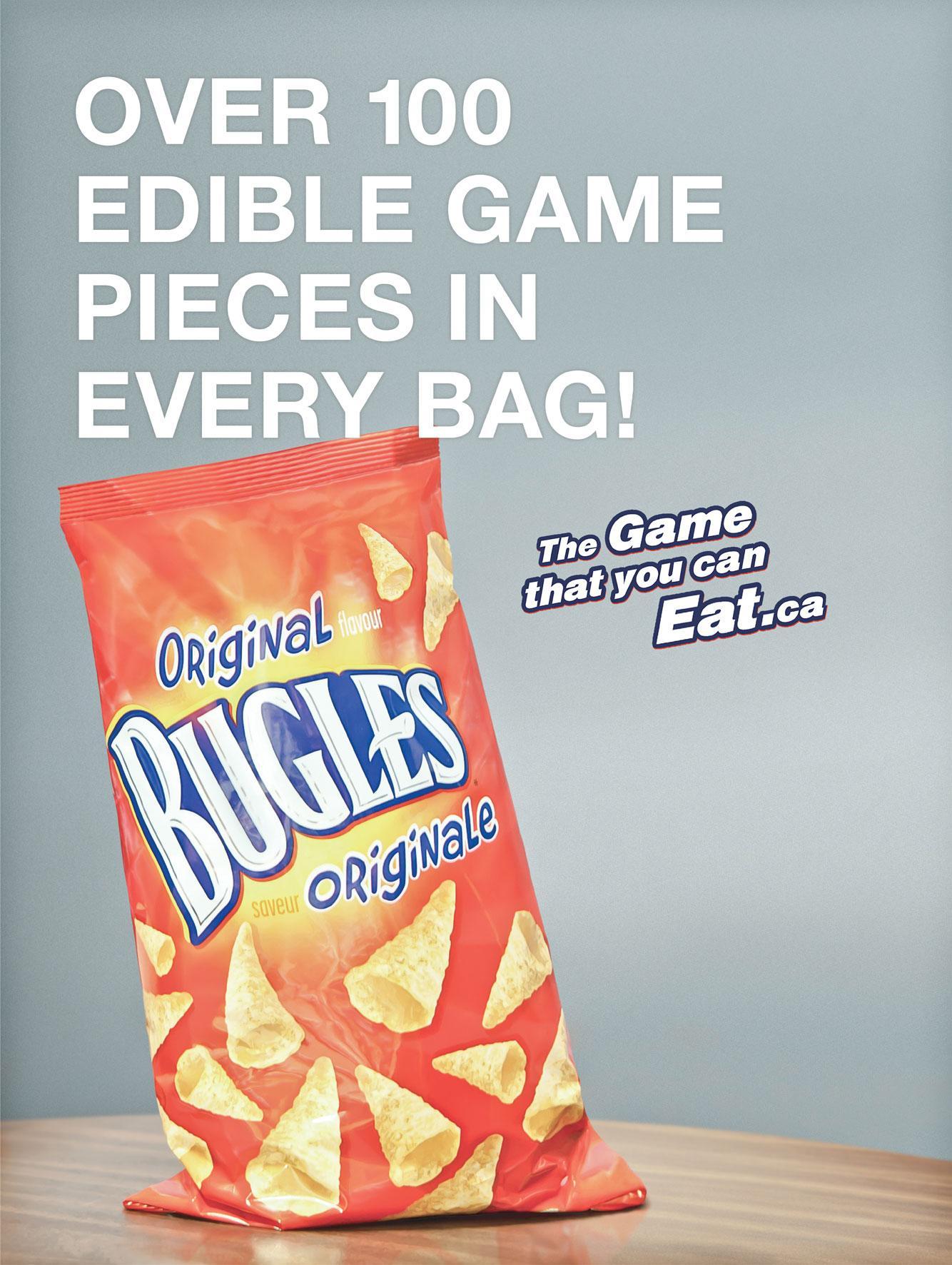 Bugles Print Ad -  Edible