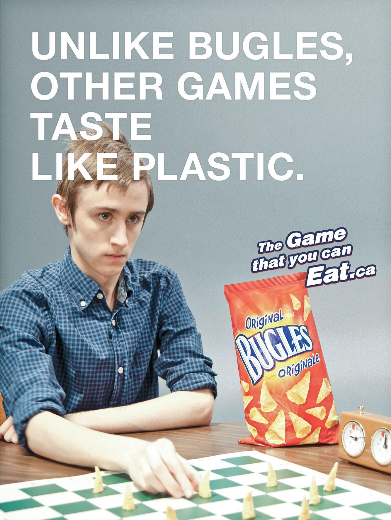 Bugles Print Ad -  Plastic