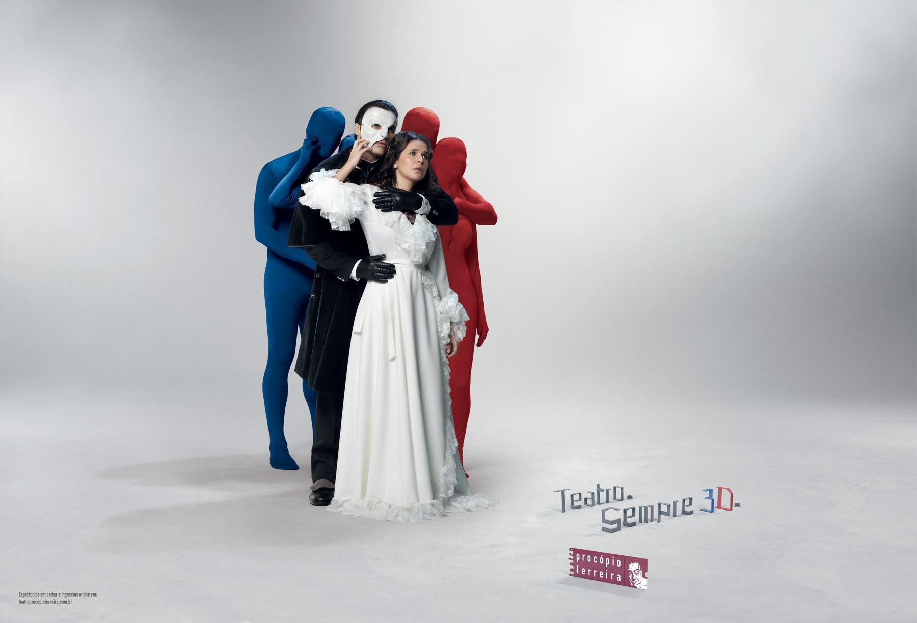 Procopio Ferreira Print Ad -  3D Phantom of the Opera