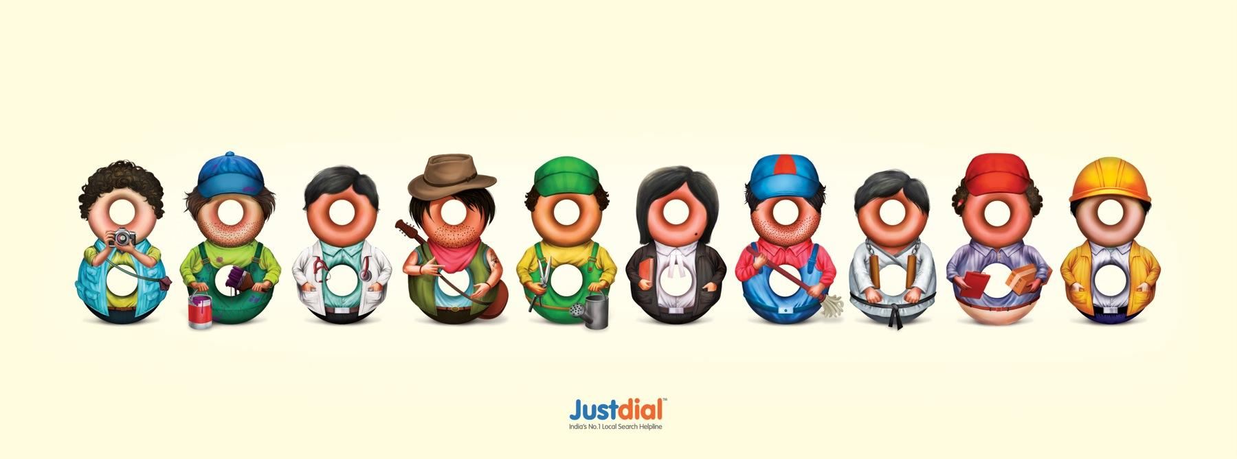 Justdial Print Ad -  Professionals, 2
