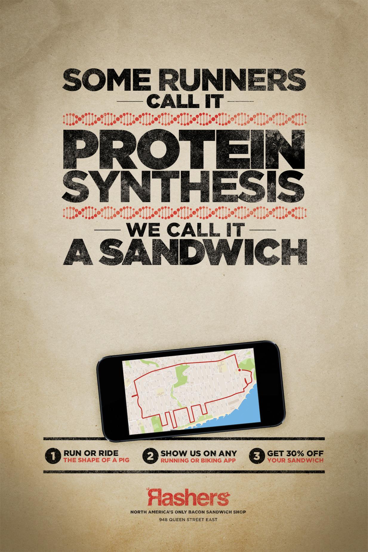 Rashers Print Ad -  Protein