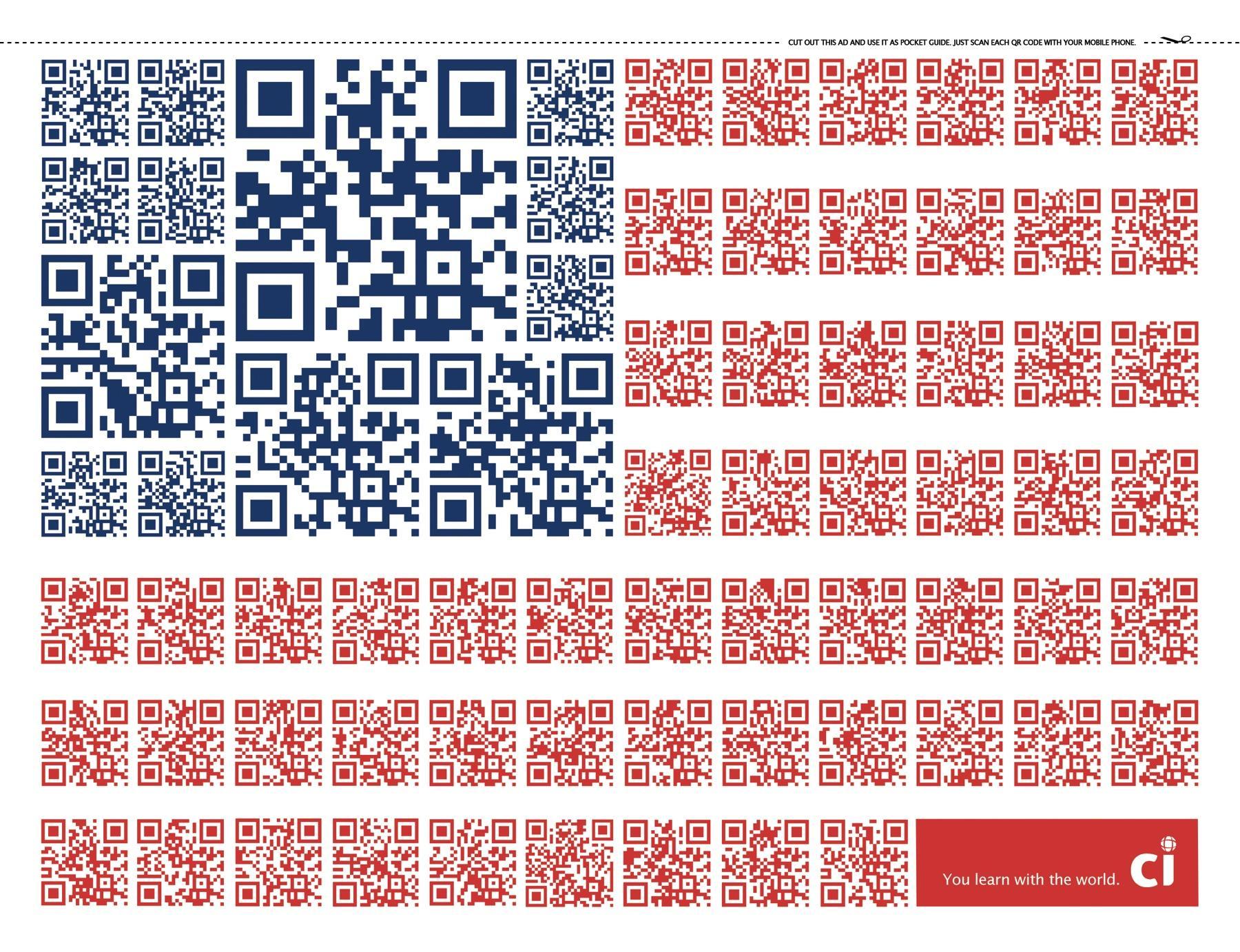 CI Intercâmbio Print Ad -  QR Code Flags, USA