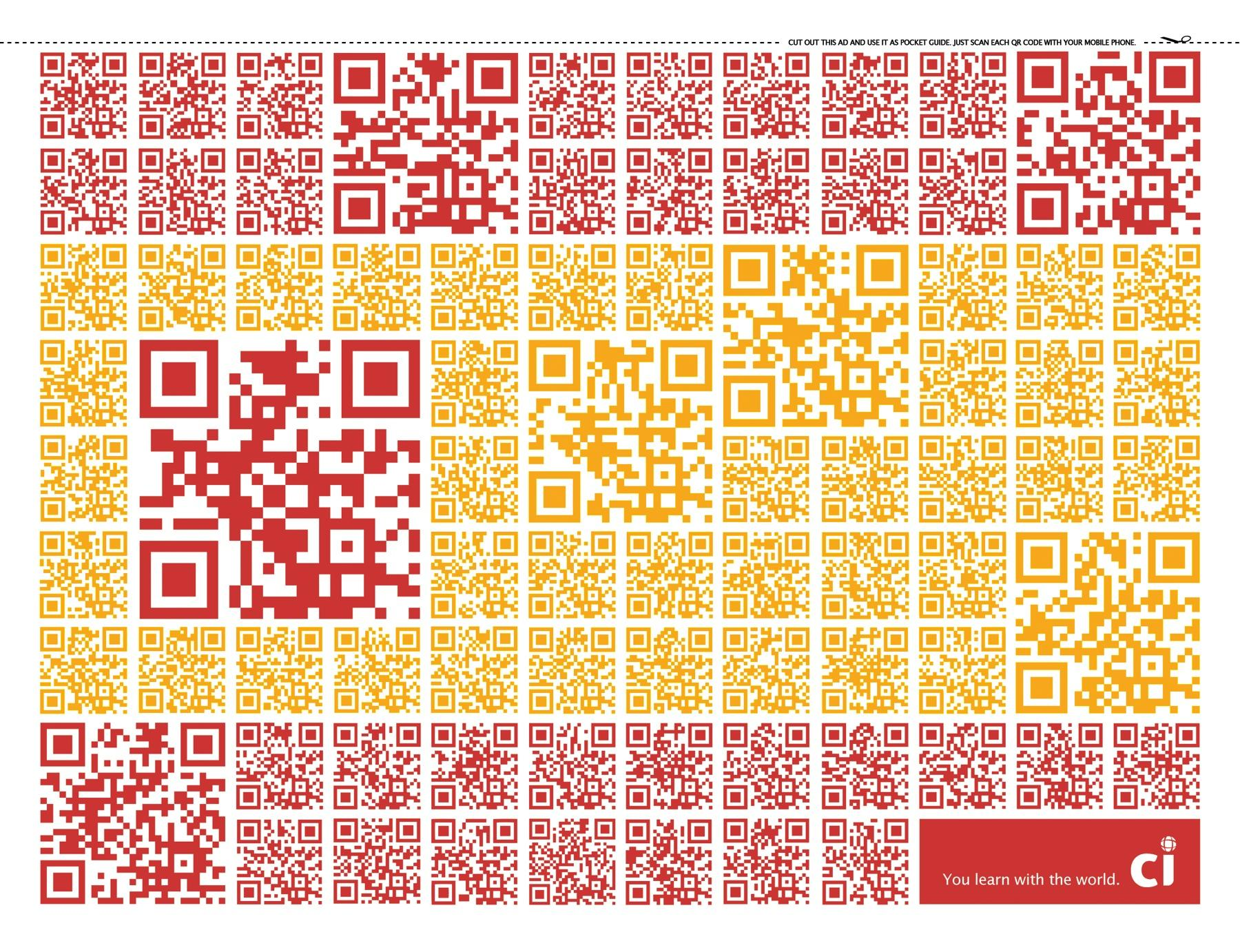 CI Intercâmbio Print Ad -  QR Code Flags, Spain