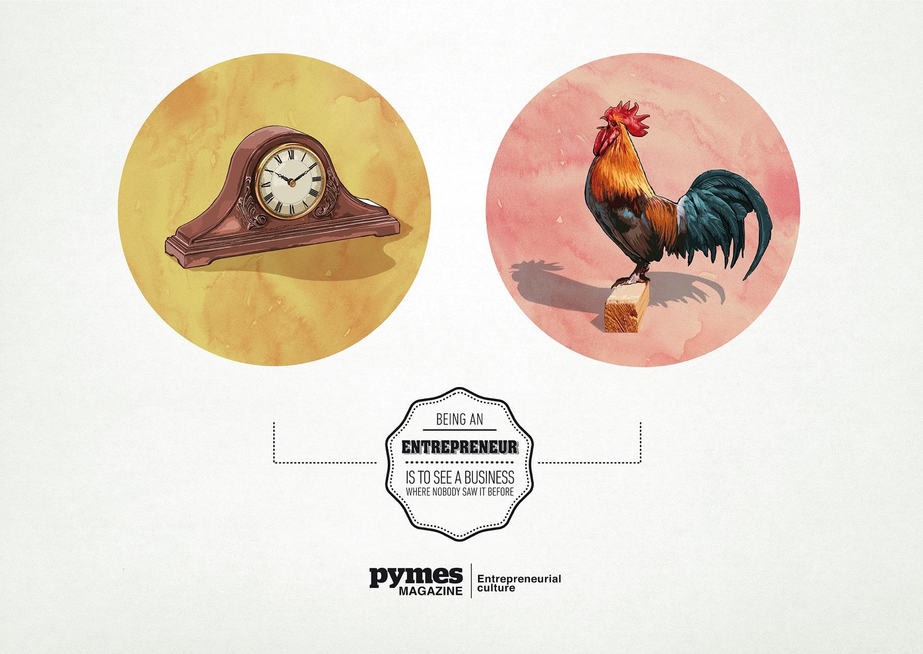 Pymes Magazine Print Ad -  Alarm Clock