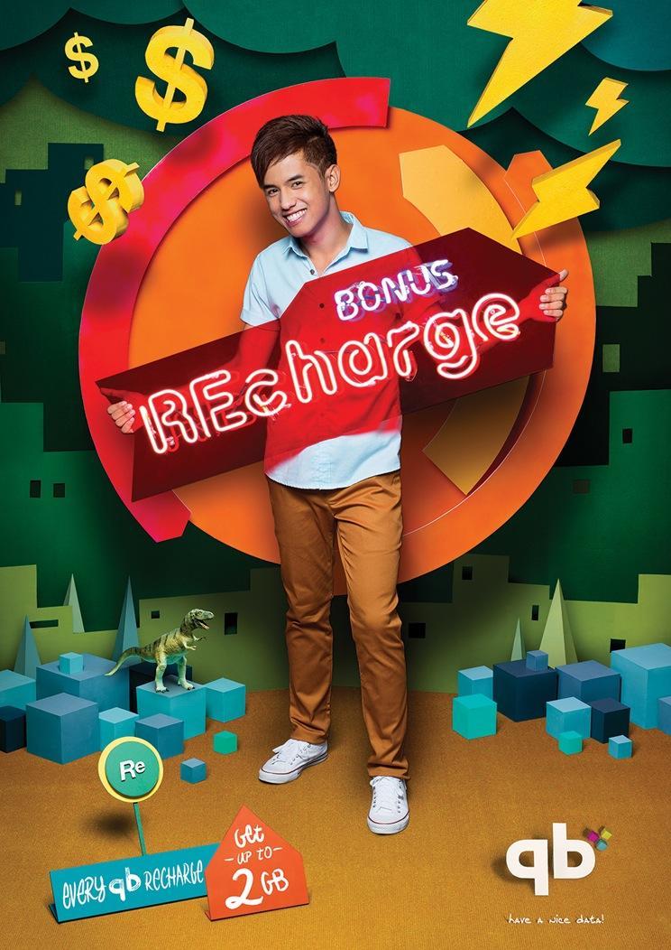 qb Cambodia Print Ad -  Bonus Recharge