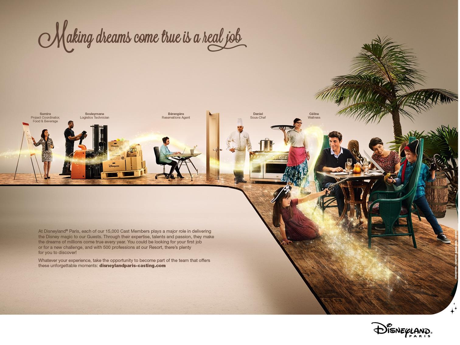 Disneyland Print Ad -  Real job, 1