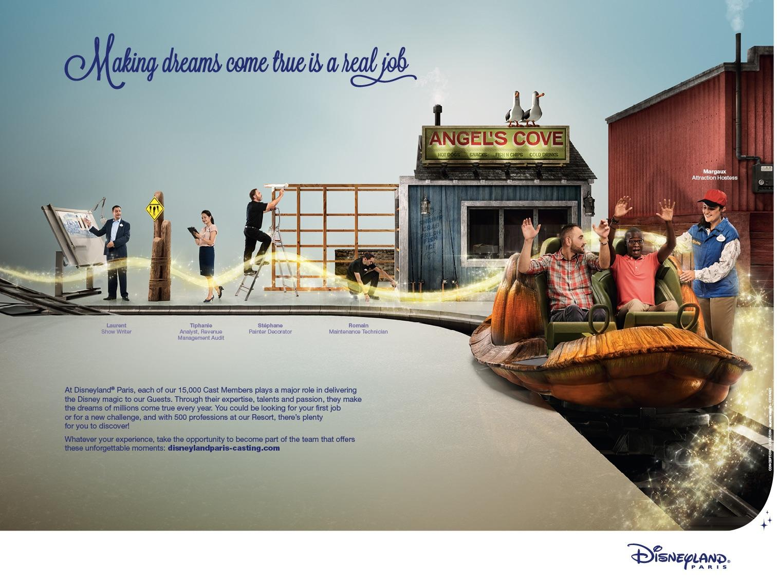 Disneyland Print Advert By Quatre Vents: Real job, 3 | Ads of the World™