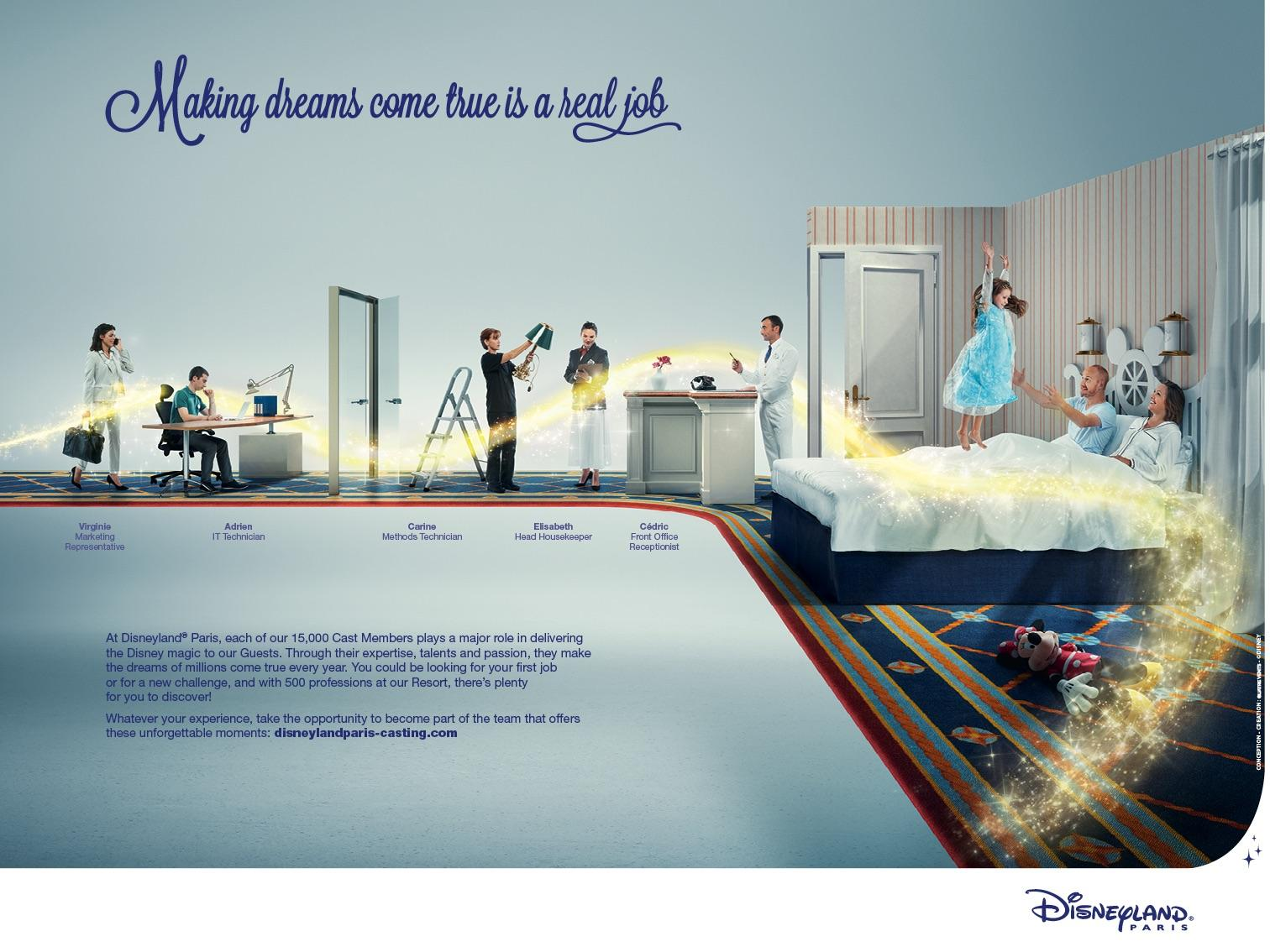 Disneyland Print Advert By Quatre Vents: Real job, 2 | Ads of the World™