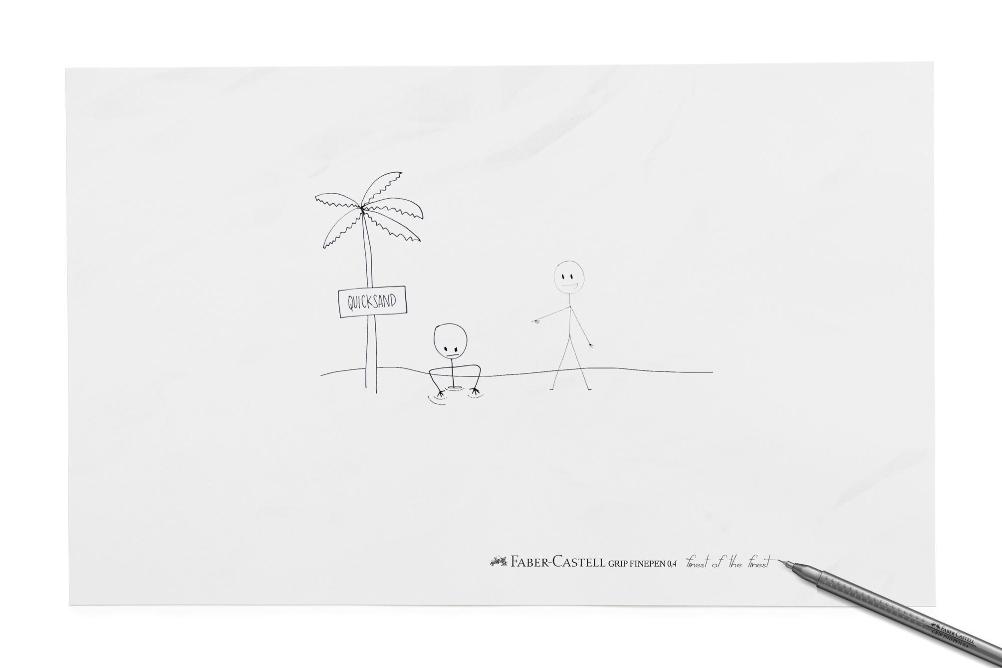 Faber-Castell Print Ad -  Quicksand