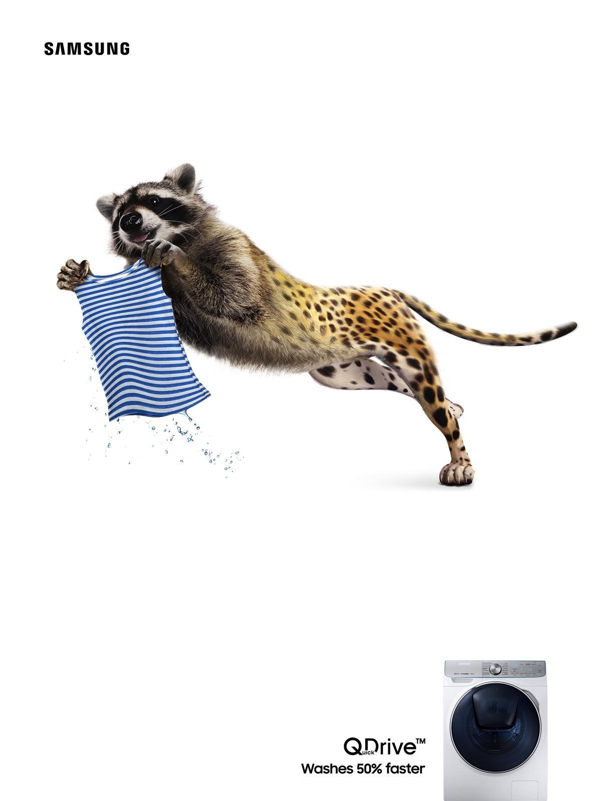 Samsung Print Ad - Raccoon/Cheetah