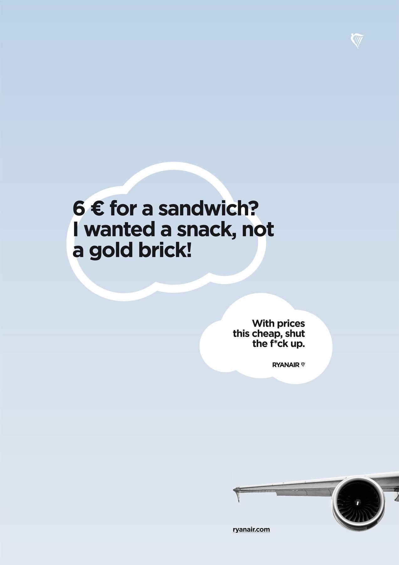 Ryanair Print Ad -  Sandwich