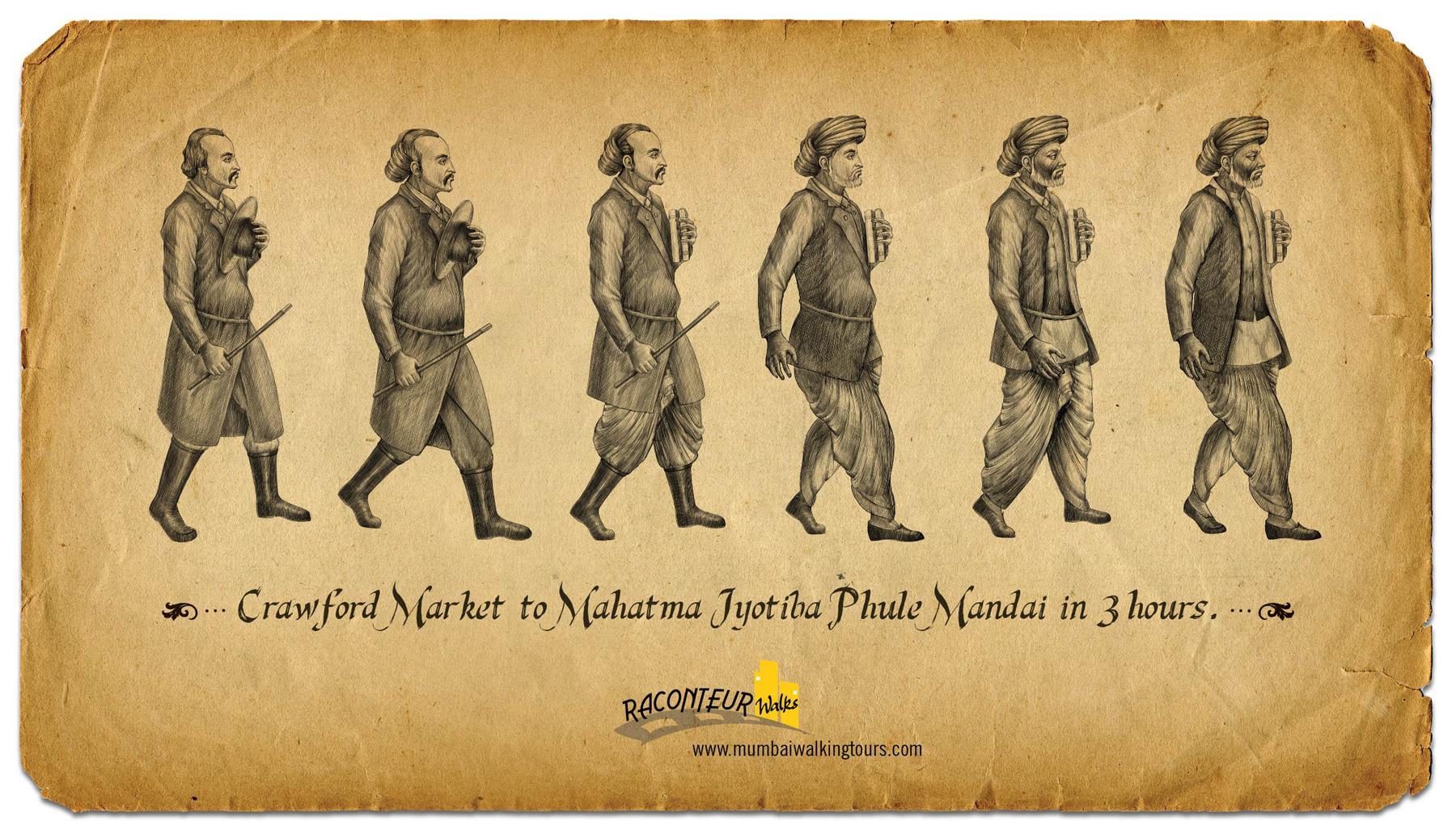 Raconteur Walks Print Ad -  Crawford Market to Mahatma Jyotiba Phule Mandai