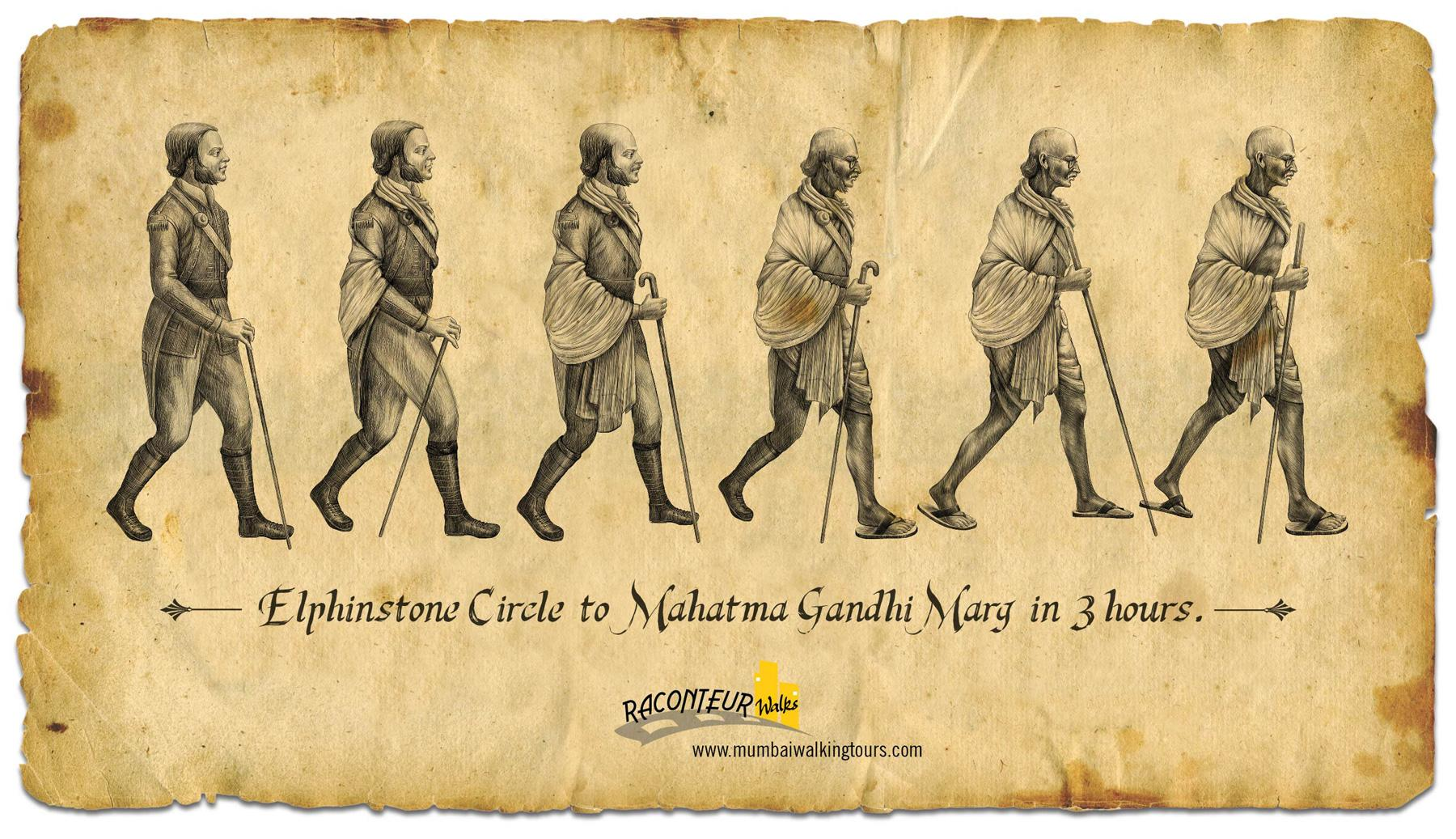 Raconteur Walks Print Ad -  Elphinstone Circle to Mahatma Gandhi Marg