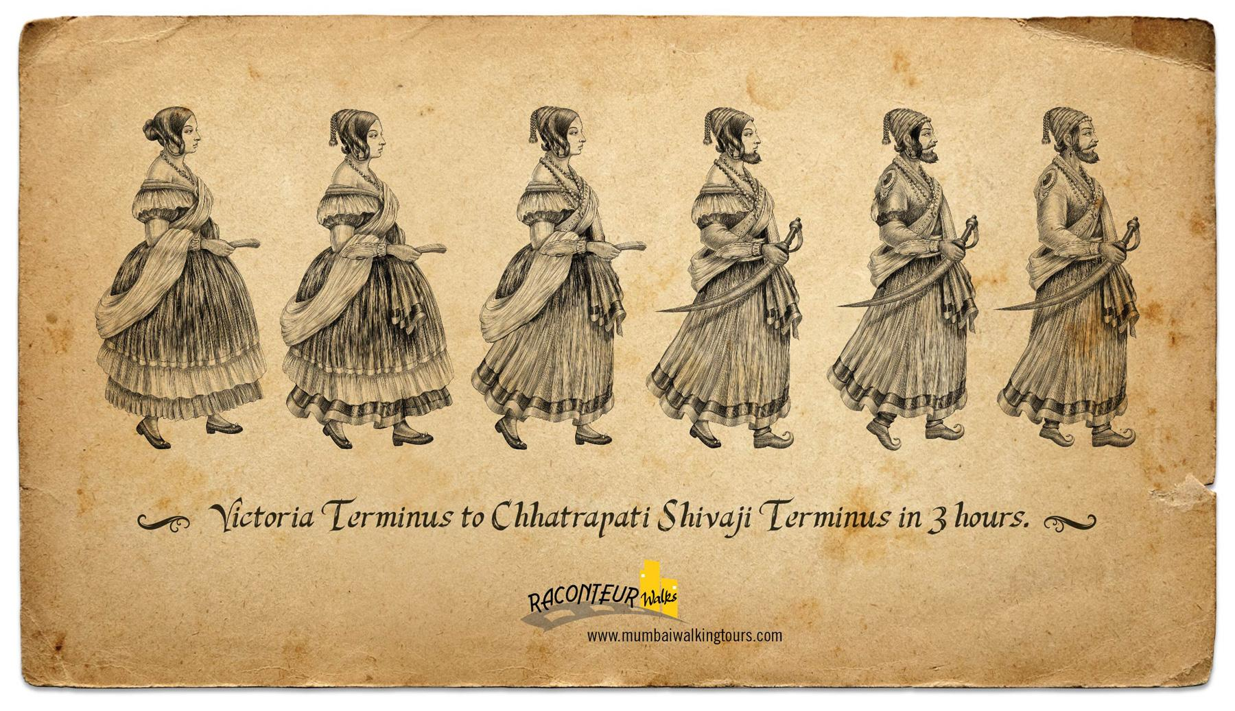 Raconteur Walks Print Ad -  Victoria Terminus to Chhatrapati Shivaji Terminus